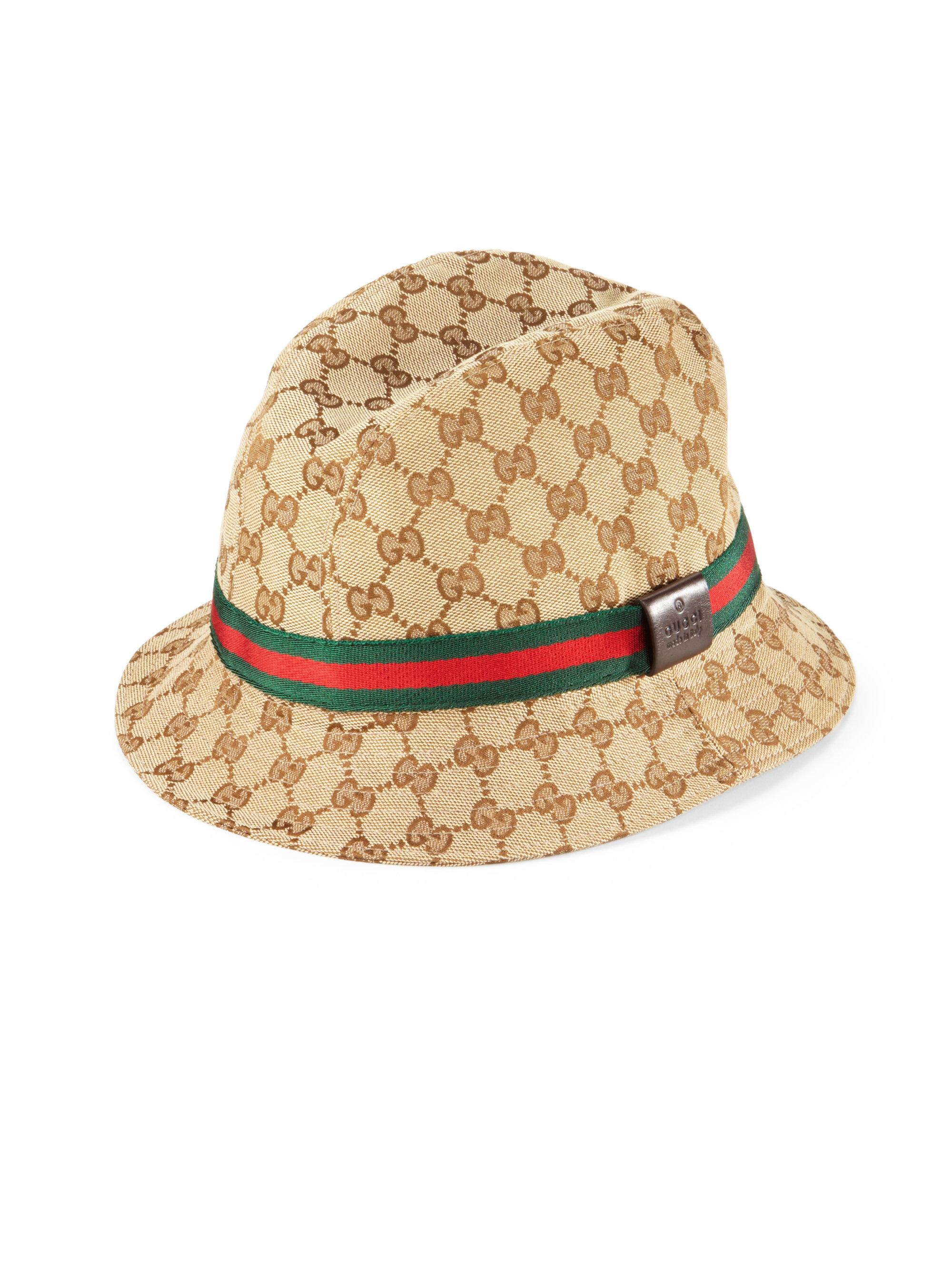 gucci canvas bucket hat in beige for men beiebcoc lyst