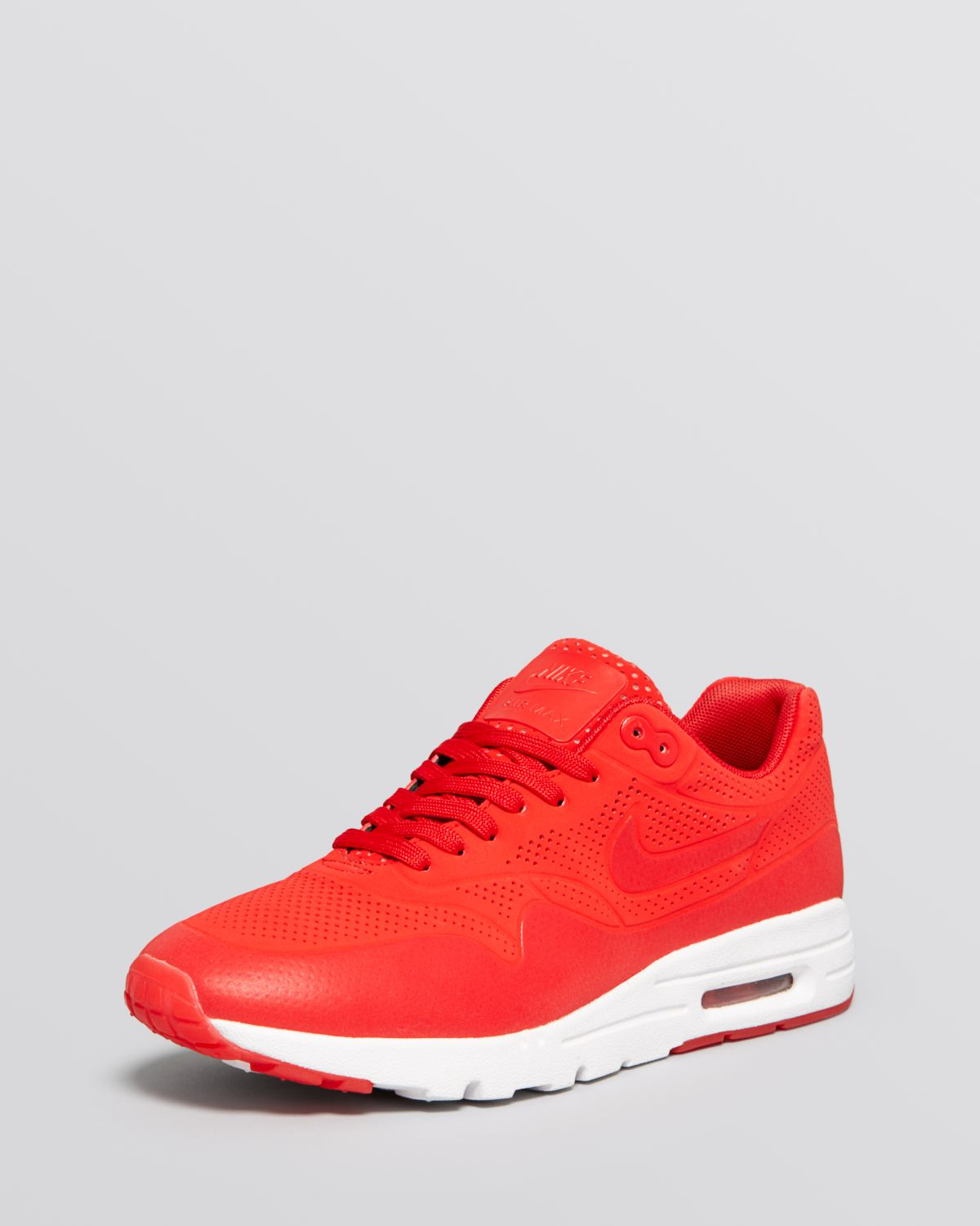 lyst nike lace up sneakers women 39 s air max 1 ultra moire in red. Black Bedroom Furniture Sets. Home Design Ideas