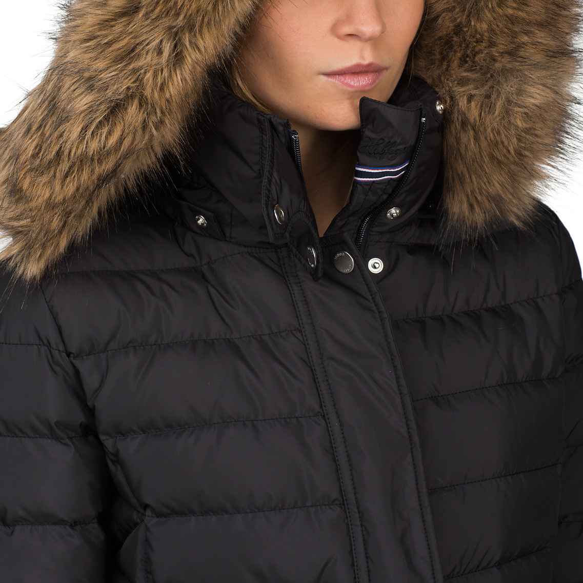 d527e7dc Tommy Hilfiger Valentina Down Jacket in Black - Lyst