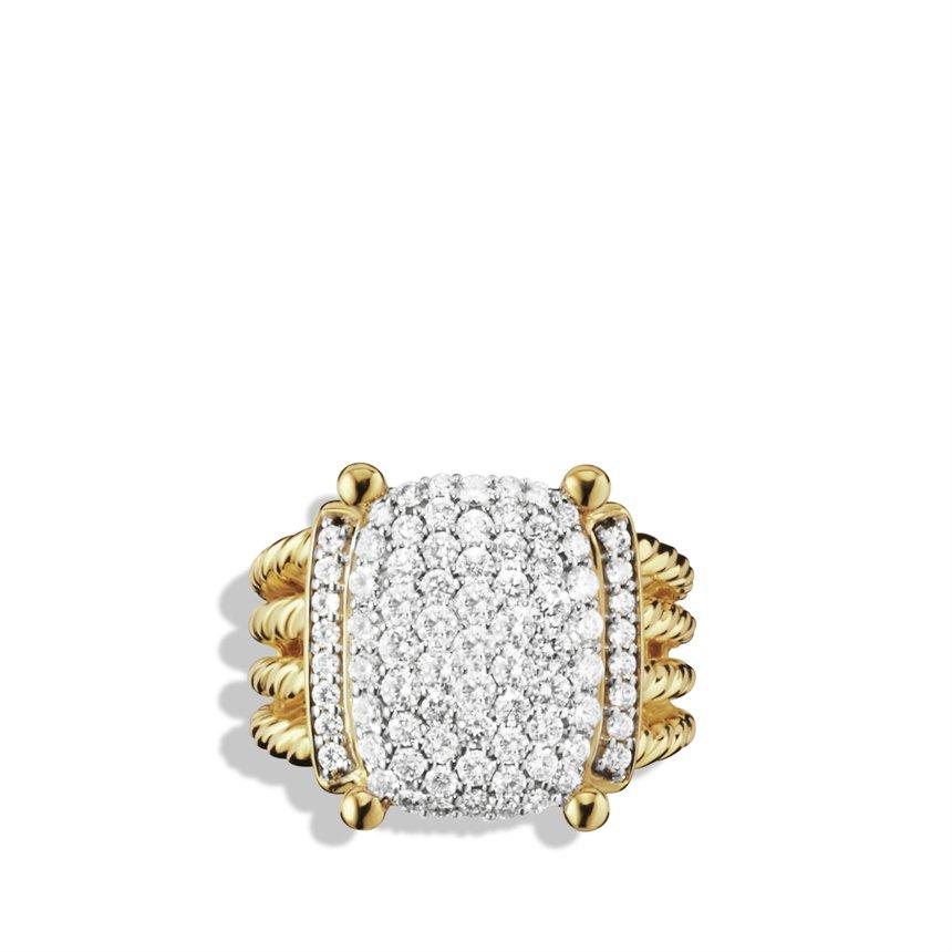 David yurman wheaton ring with diamonds in gold in for David yurman inspired jewelry rings