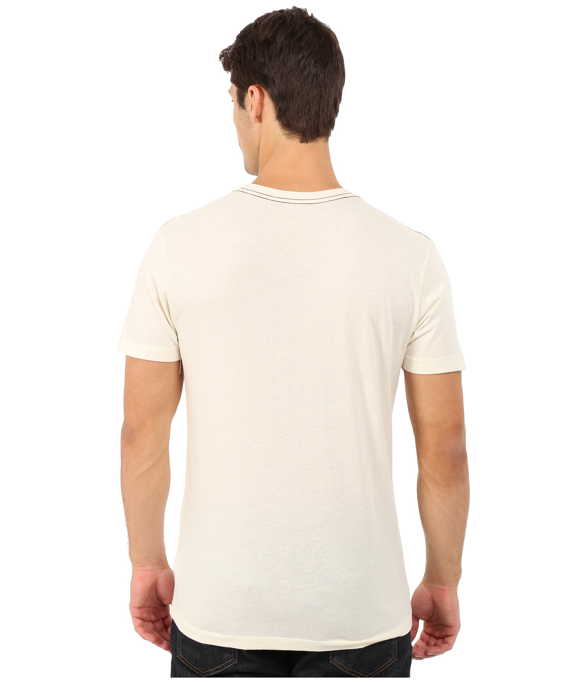 9111aeefd56 Lyst - RVCA Shelton All The Way Tee in Natural for Men