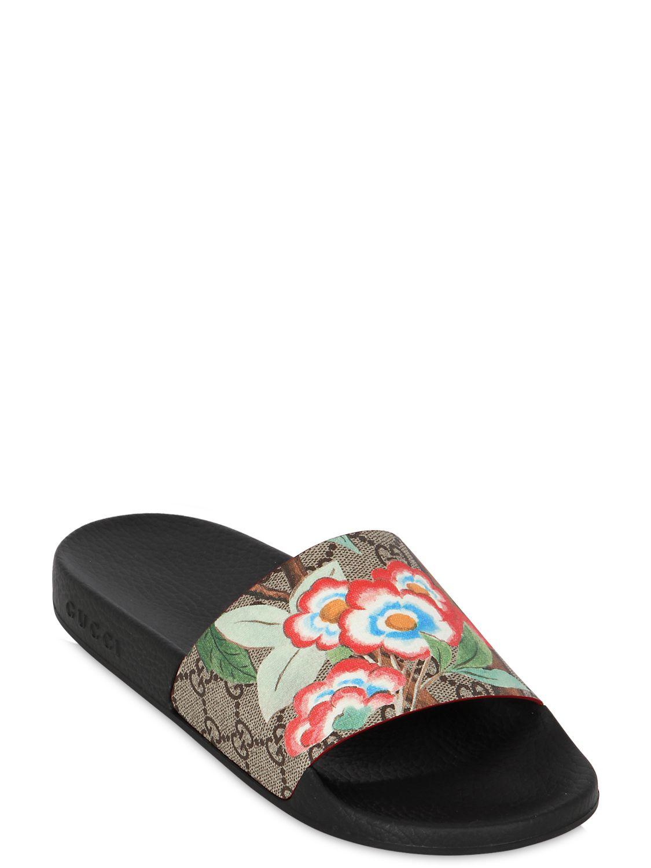 Gucci 20mm Pursuit Gg Supreme Slide Sandals Lyst