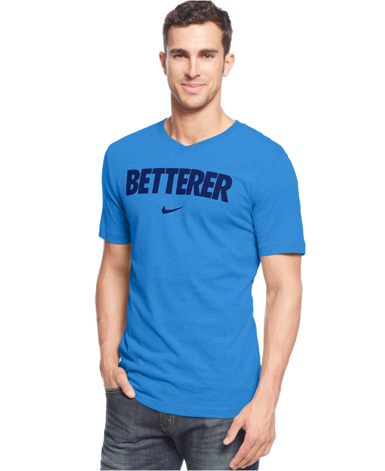 Lyst - Nike Roger Federer Betterer V-Neck T-Shirt in Blue for Men e303a264e