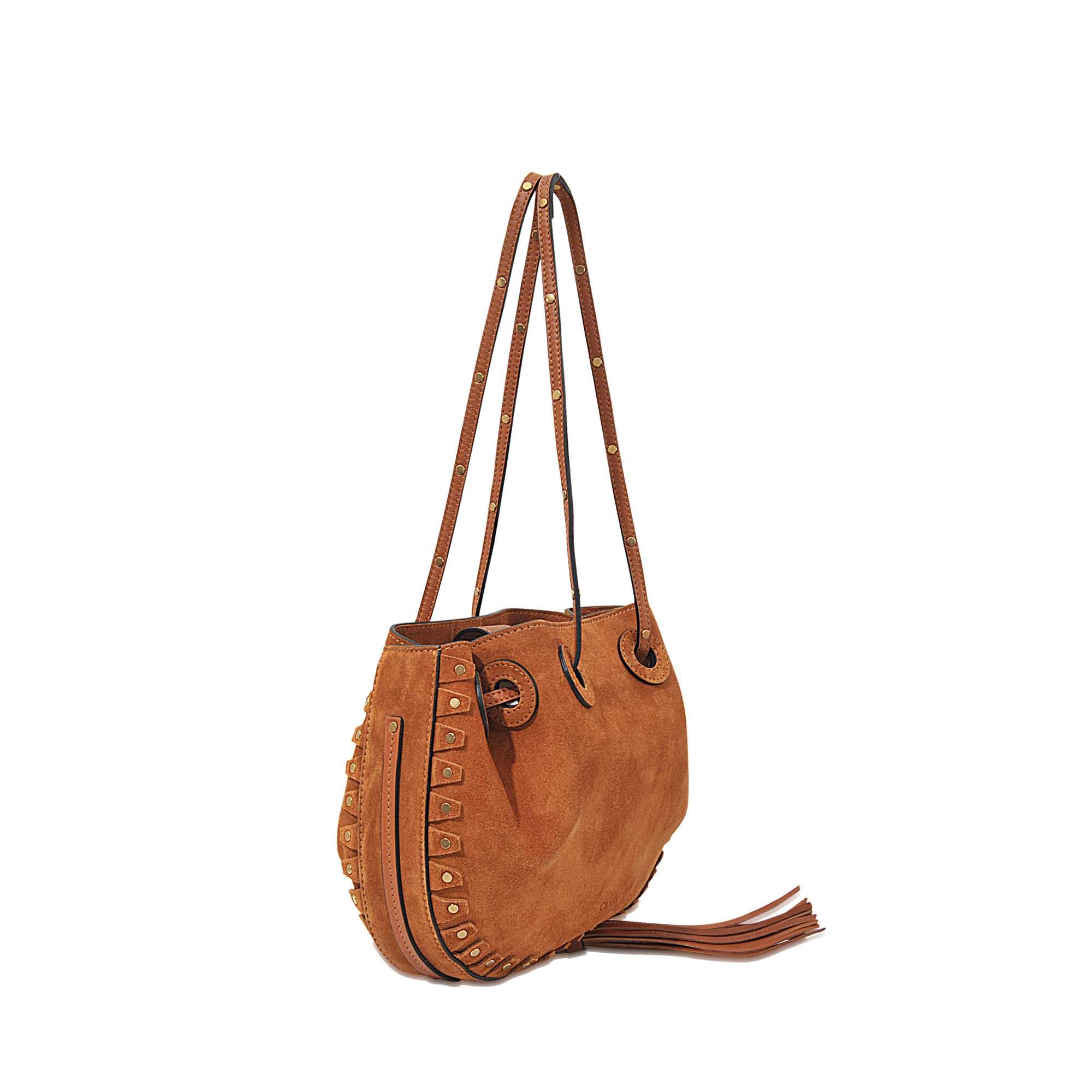 338aba548534 Chloé Inez Small Drawstring Bag in Brown - Lyst