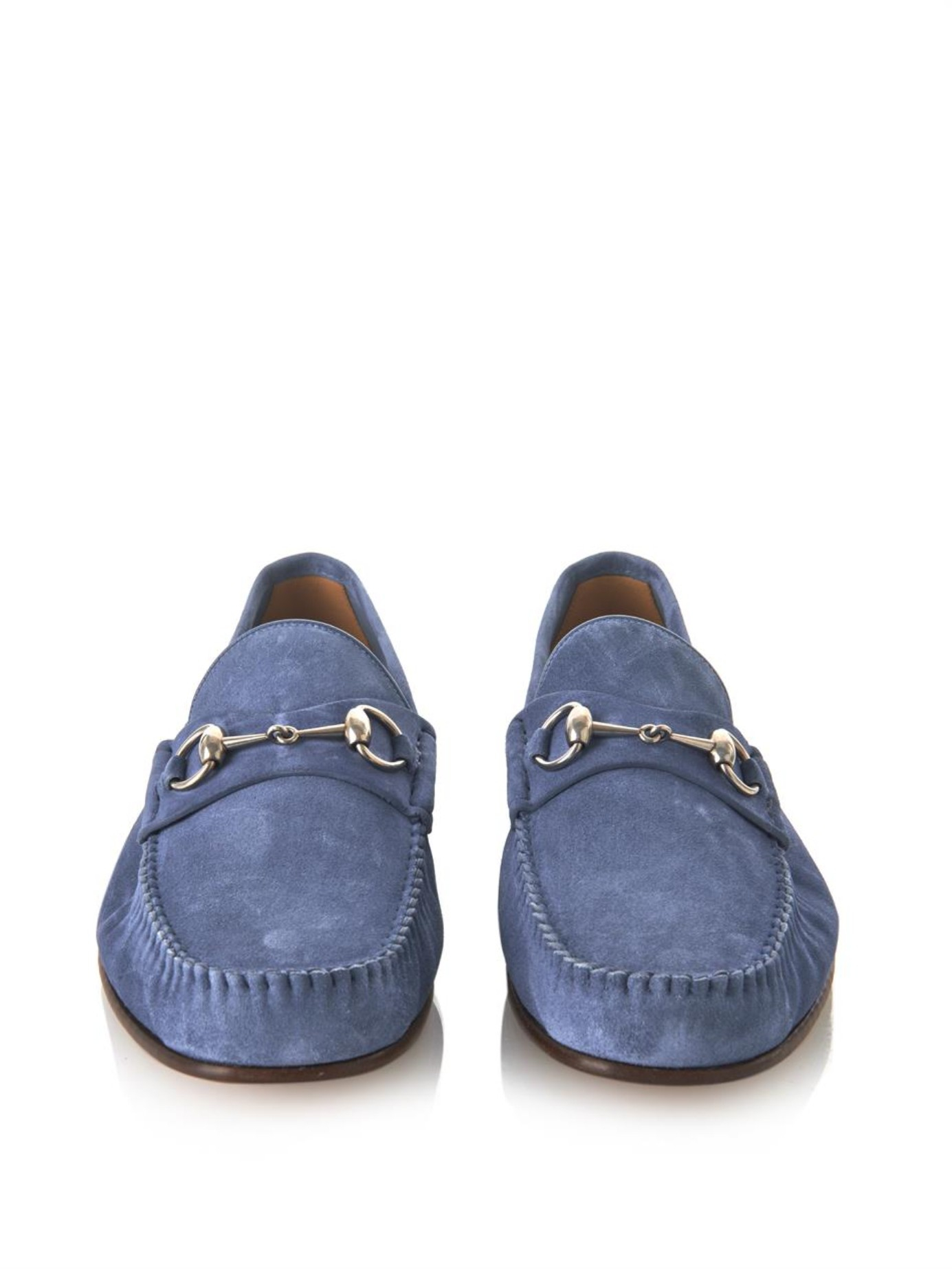2f9aa909544 Lyst - Gucci Roos Suede Loafers in Blue for Men