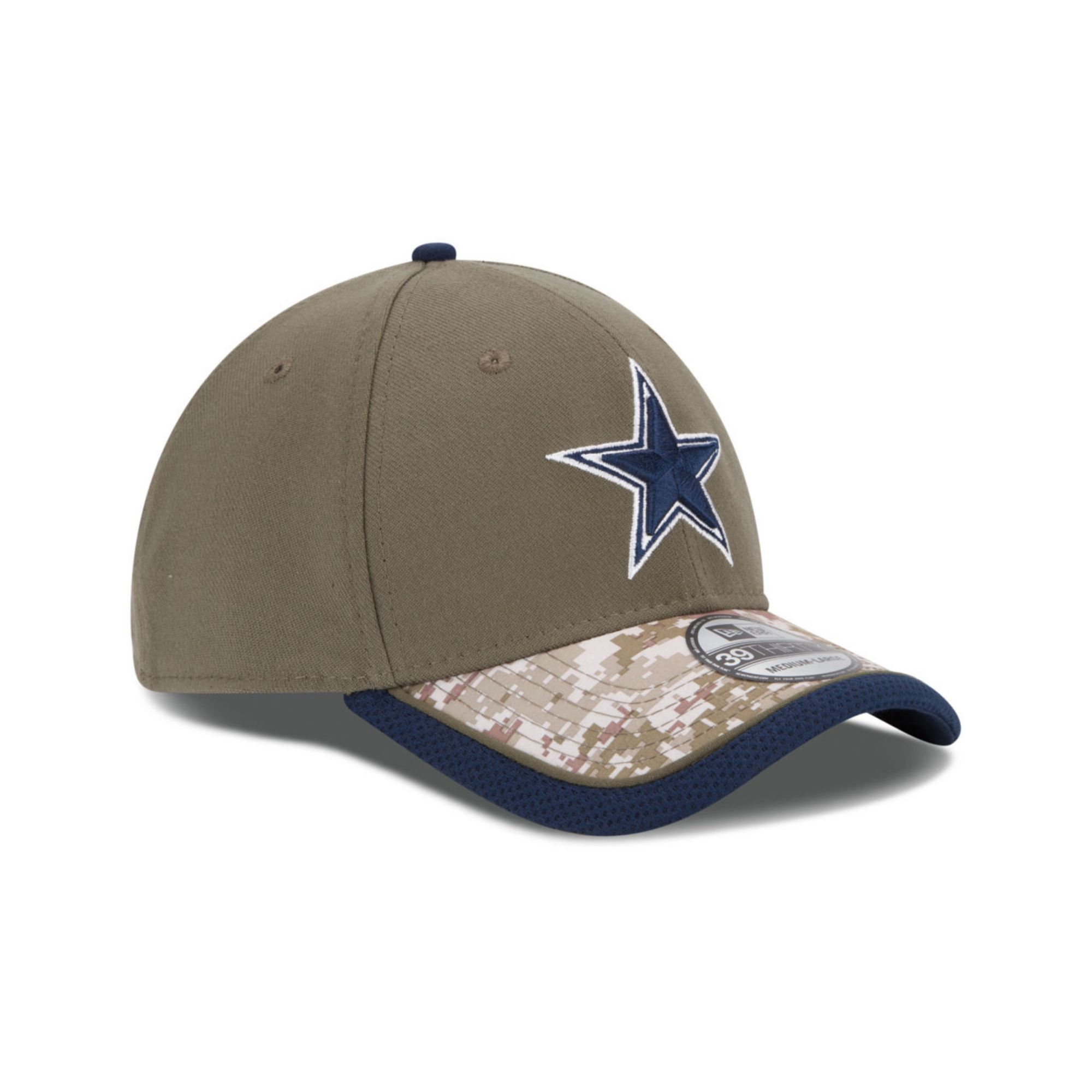 Lyst - KTZ Dallas Cowboys Salute To Service 39thirty Cap in Green ... 25adaf55f93