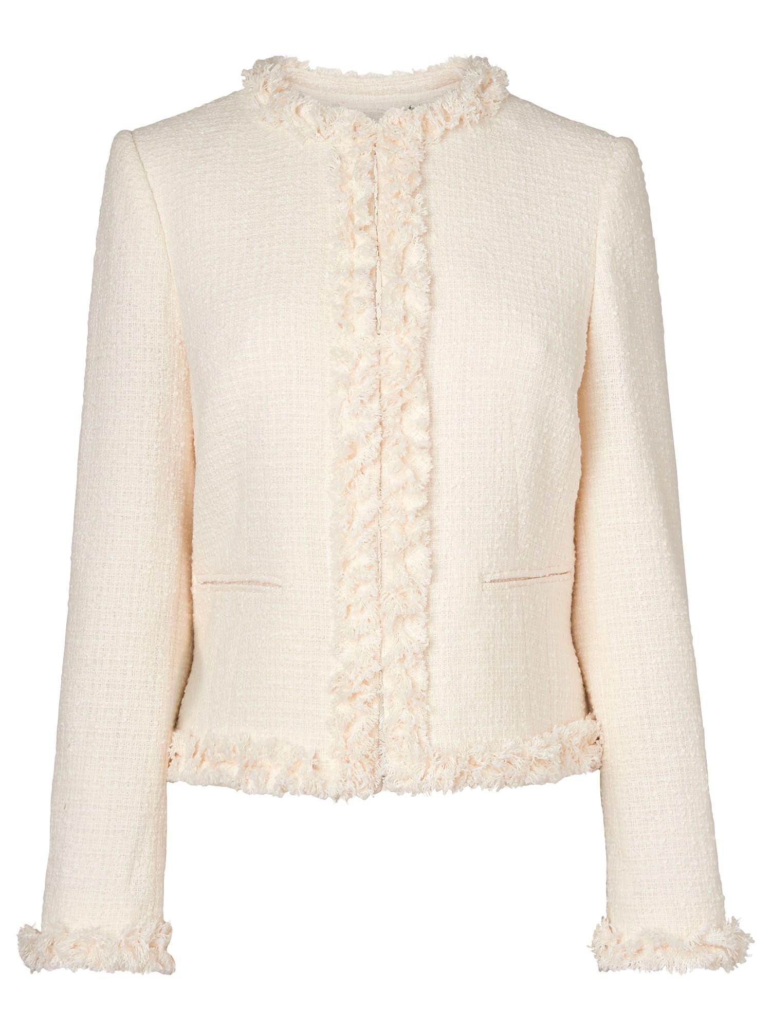 L.k.bennett Malena Tweed Jacket in Natural | Lyst