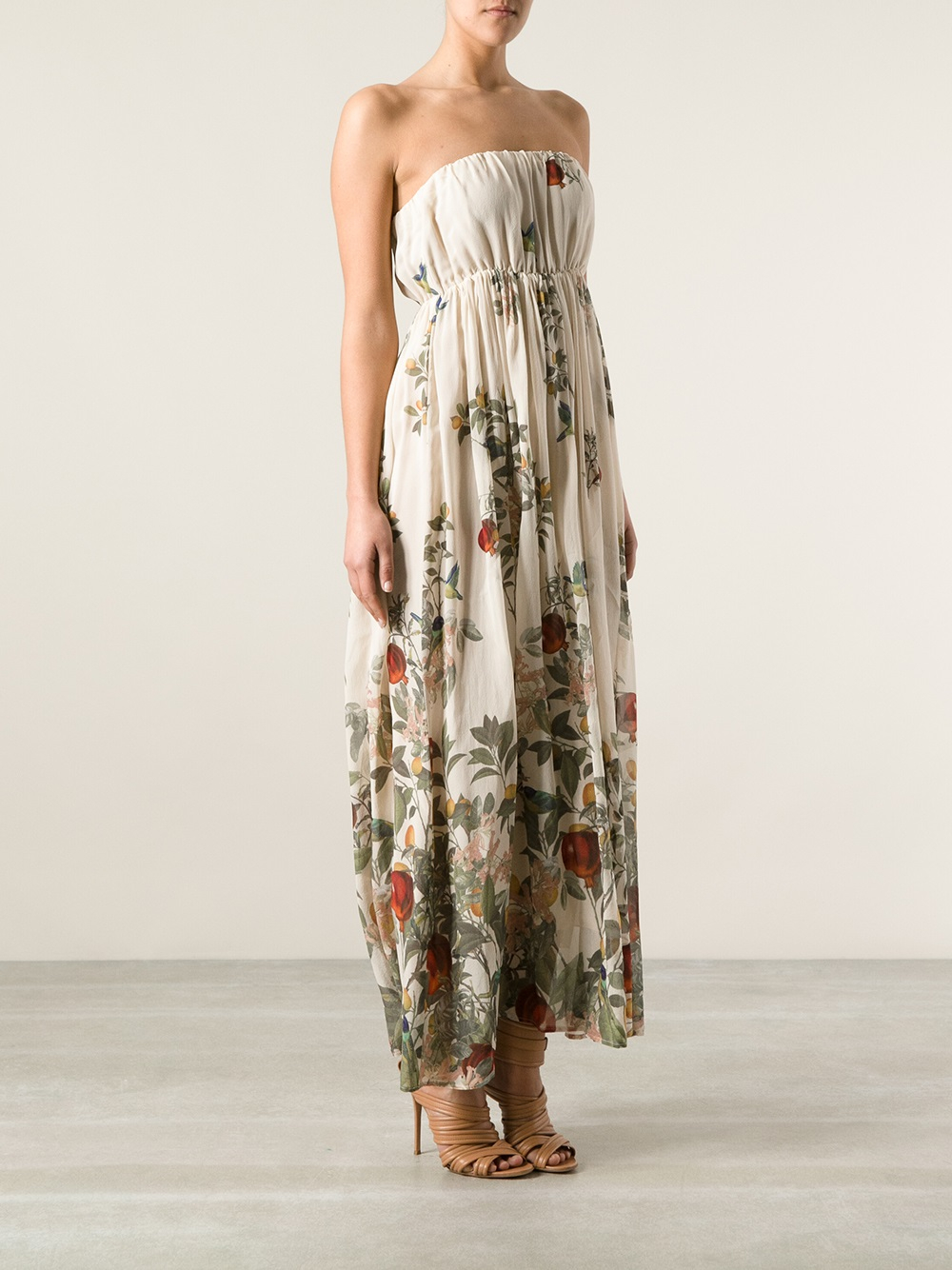 Lyst Erika Cavallini Semi Couture Floral Banded Dress