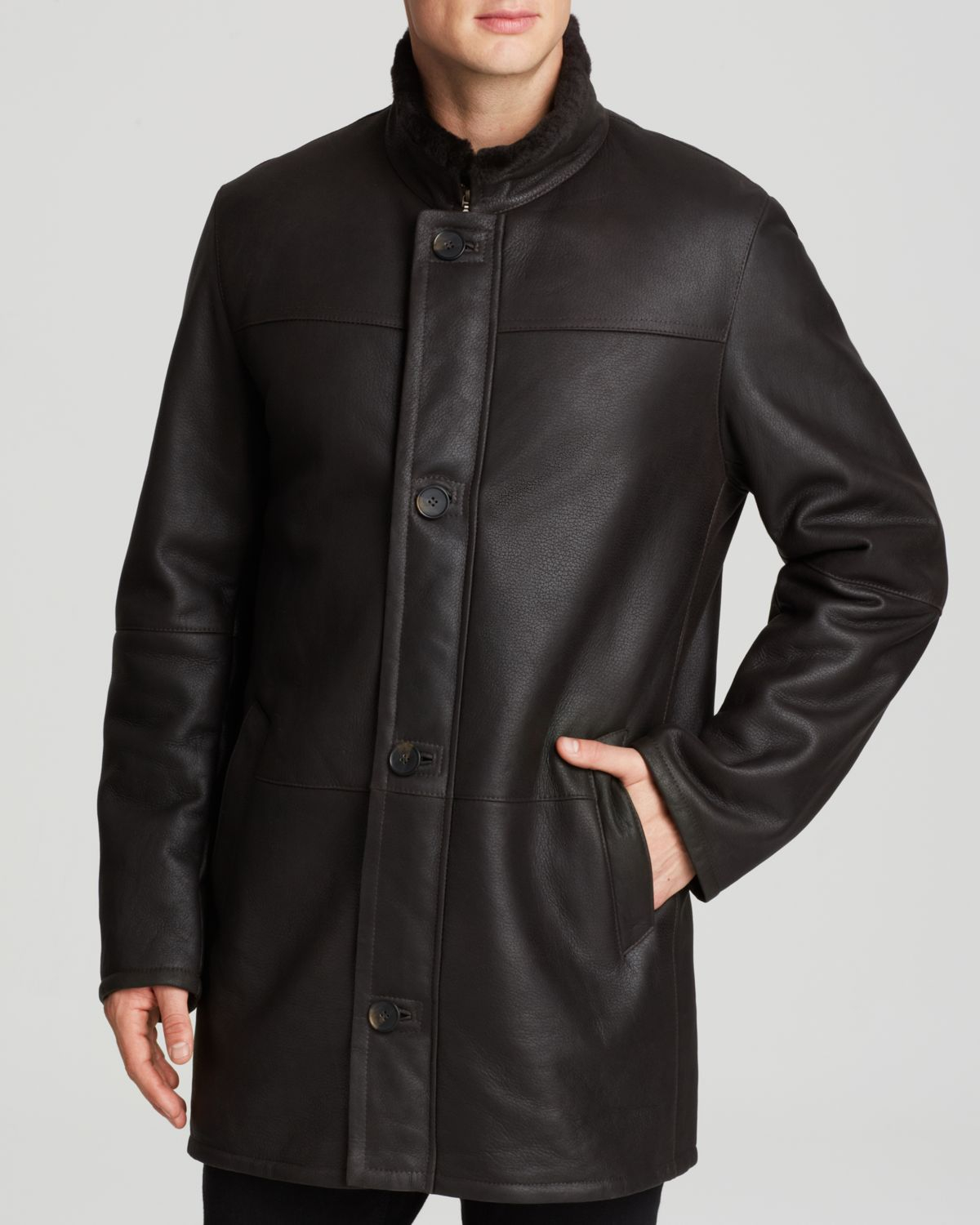 Maximilian Men&39S Shearling Coat in Brown for Men | Lyst