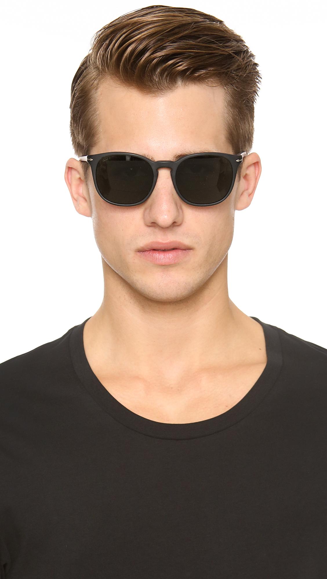 70caf670ca Lyst - Persol Polarized Classic Sunglasses in Black for Men