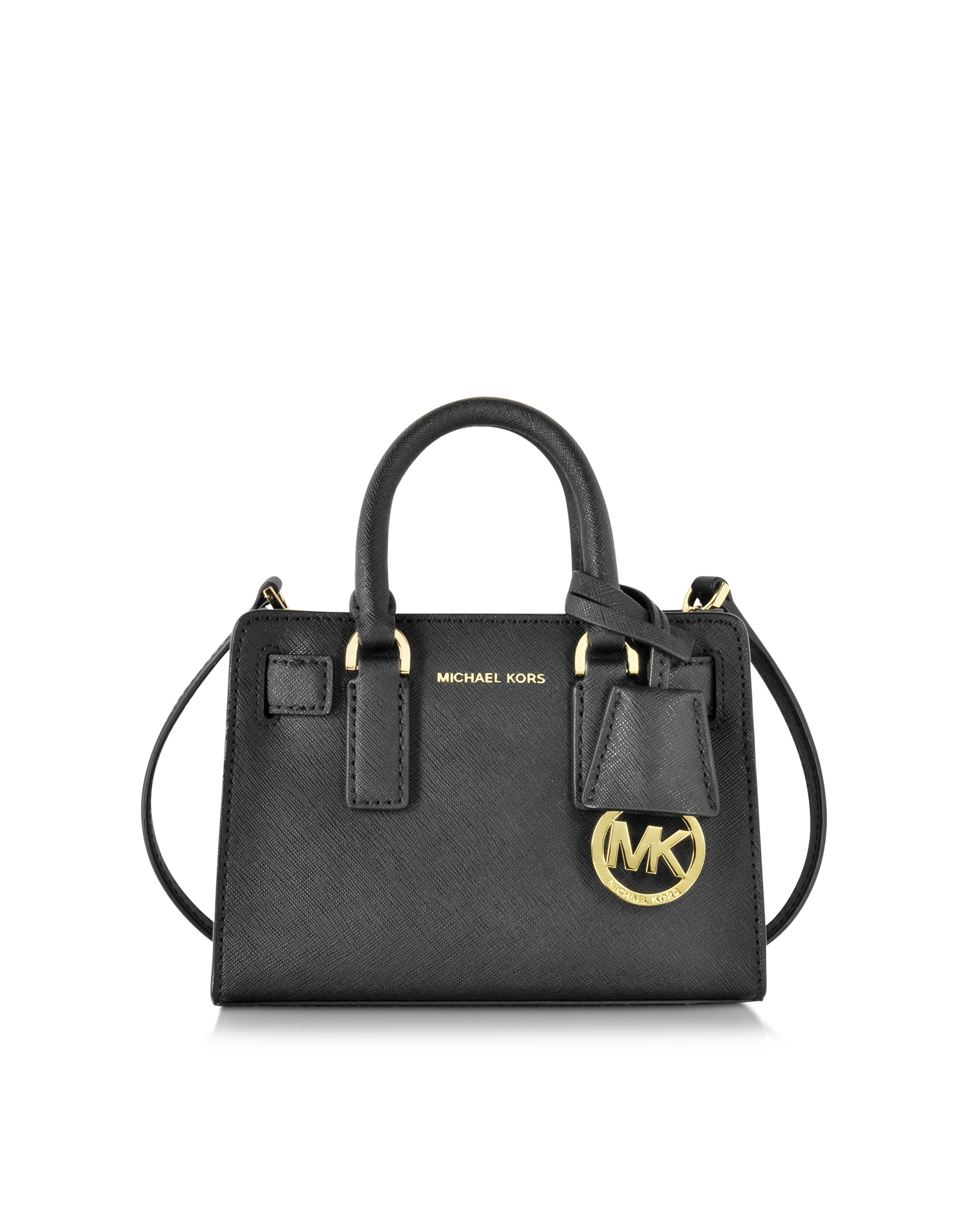 1fd7603ea533 Lyst - Michael Kors Dillon Black Saffiano Leather Extra Small ...