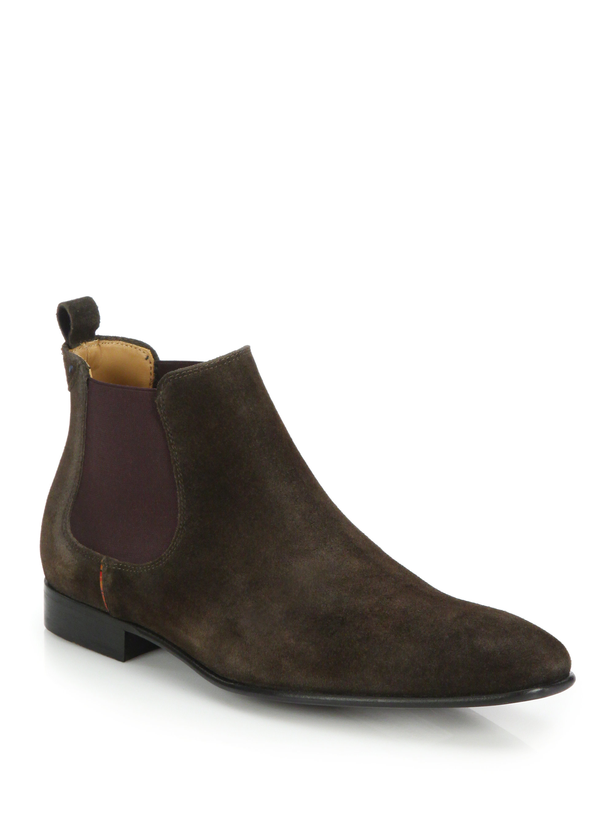 Paul Smith Falconer Suede Chelsea Boots In Brown For Men