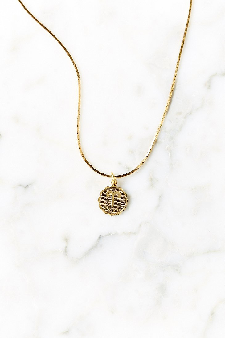 Urban outfitters Gold Mini Zodiac Necklace in Metallic | Lyst