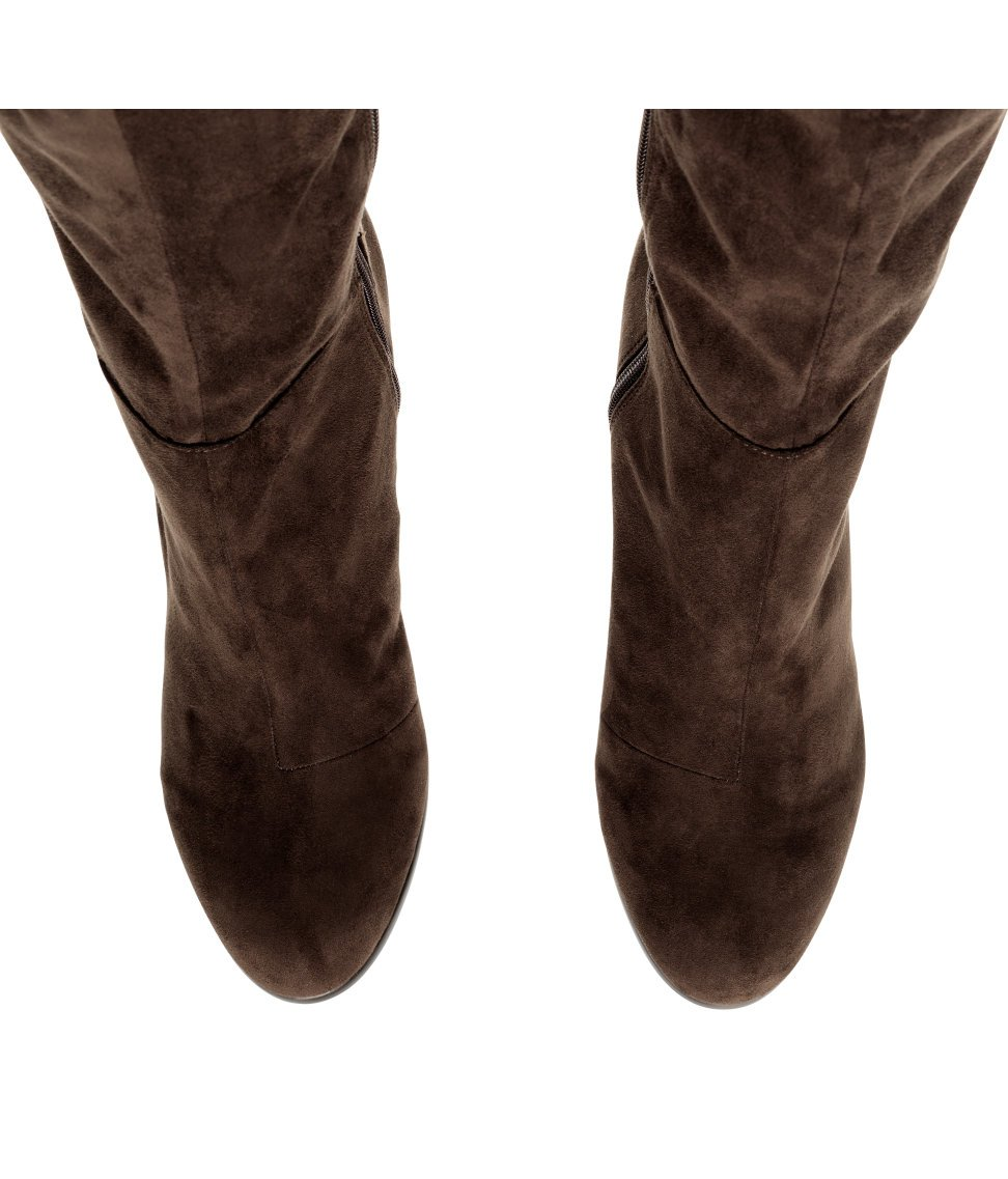 5217a581f11f5 H&M Knee-high Boots in Brown - Lyst