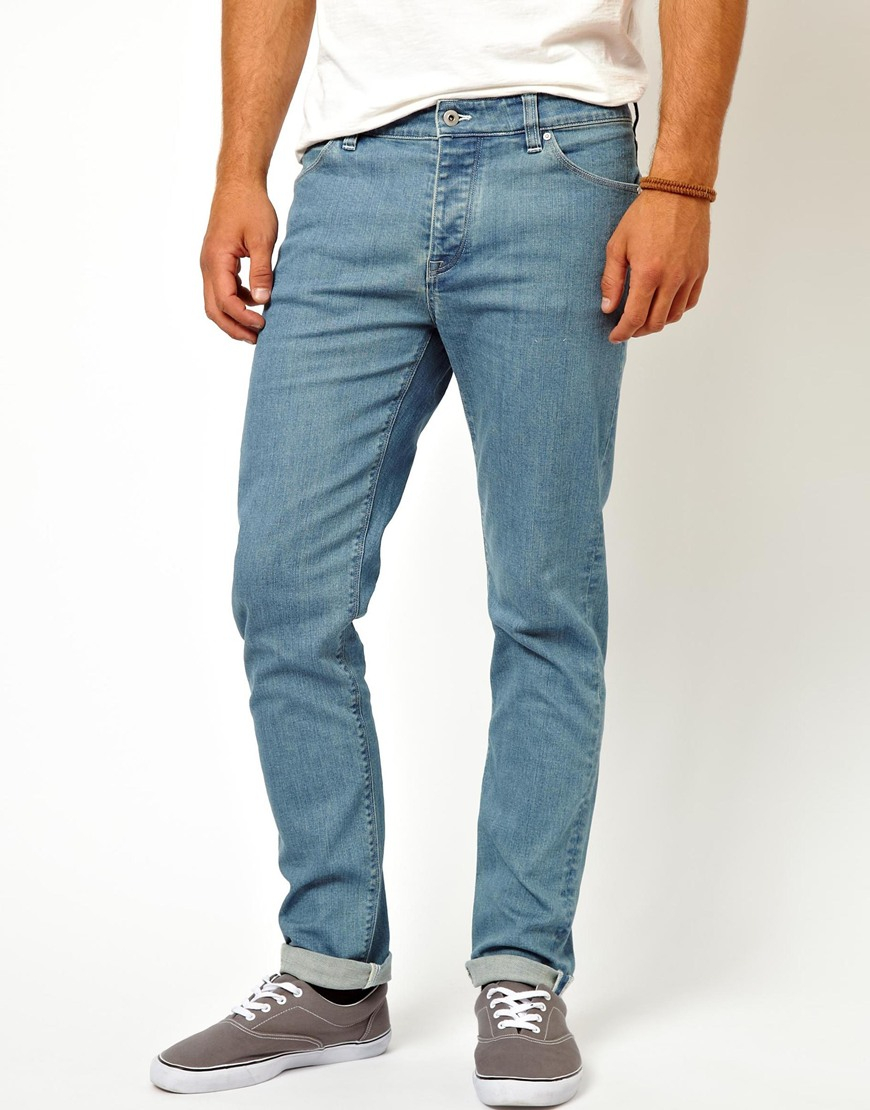 Asos Skinny Jeans In Light Blue in Blue for Men | Lyst