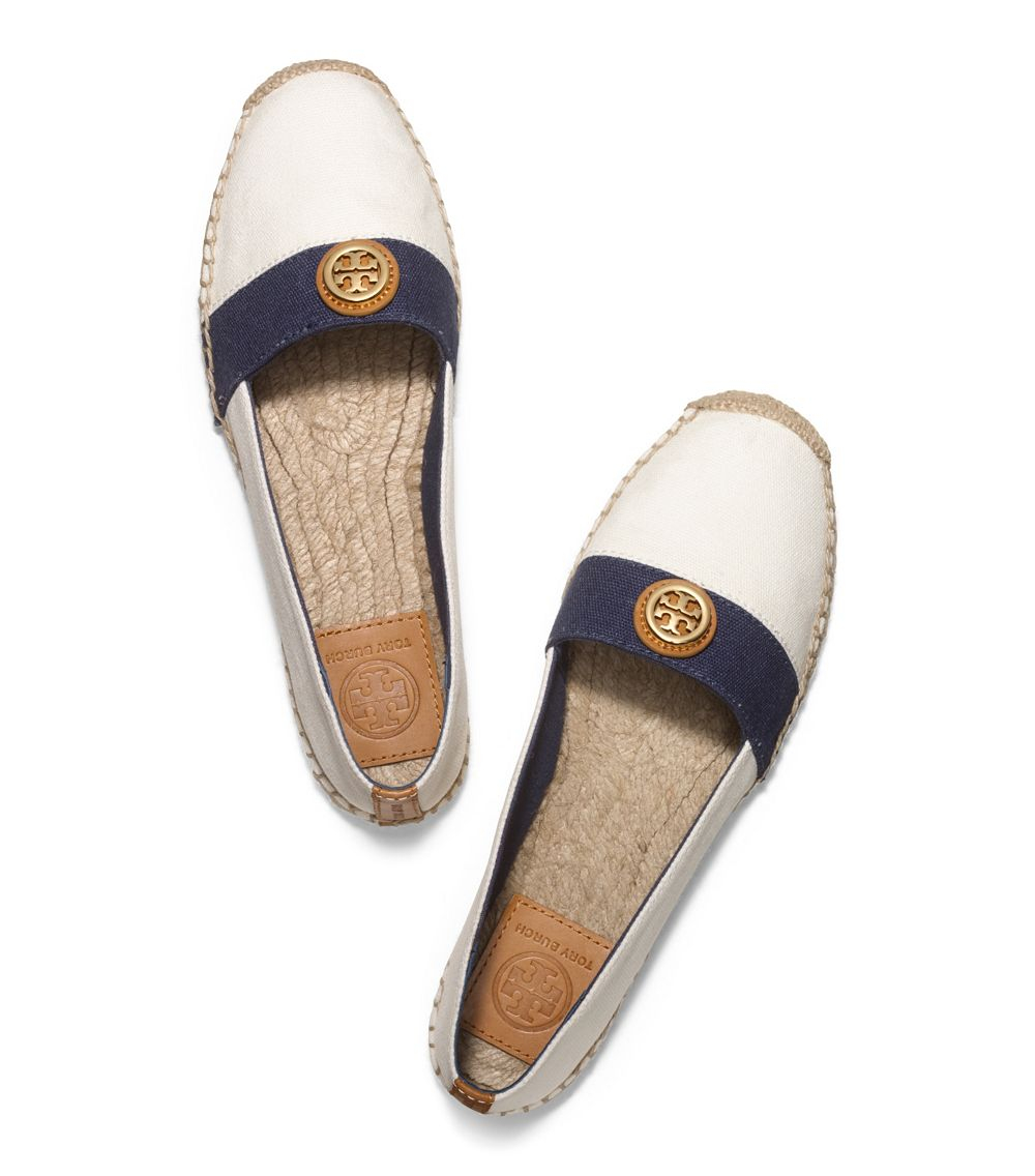 4a49a5212c7 ... promo code for lyst tory burch beacher flat espadrille in white 14541  bcc68