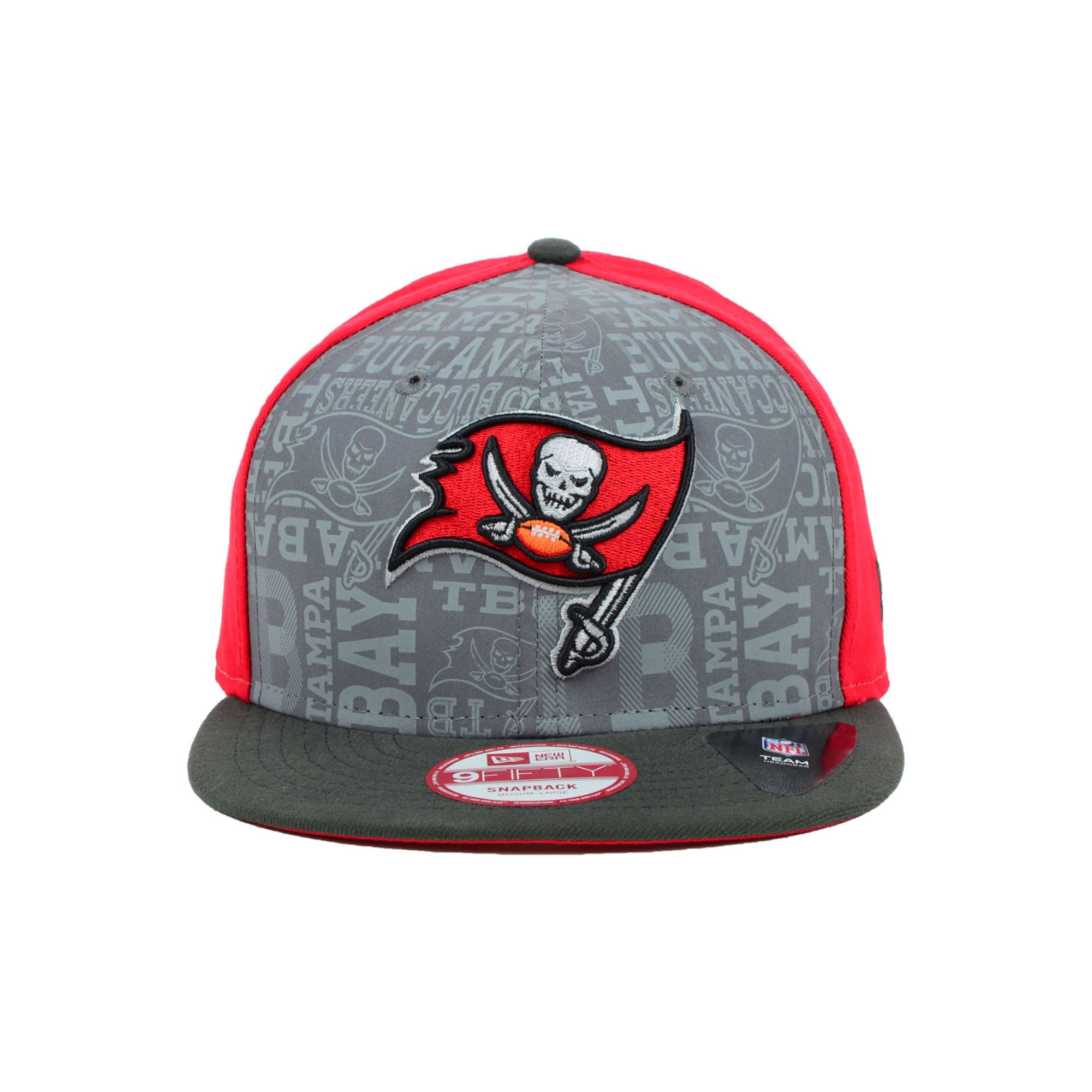 pretty nice 0f8c2 fb9b6 KTZ Tampa Bay Buccaneers Nfl Draft 9fifty Snapback Cap in Red for ...