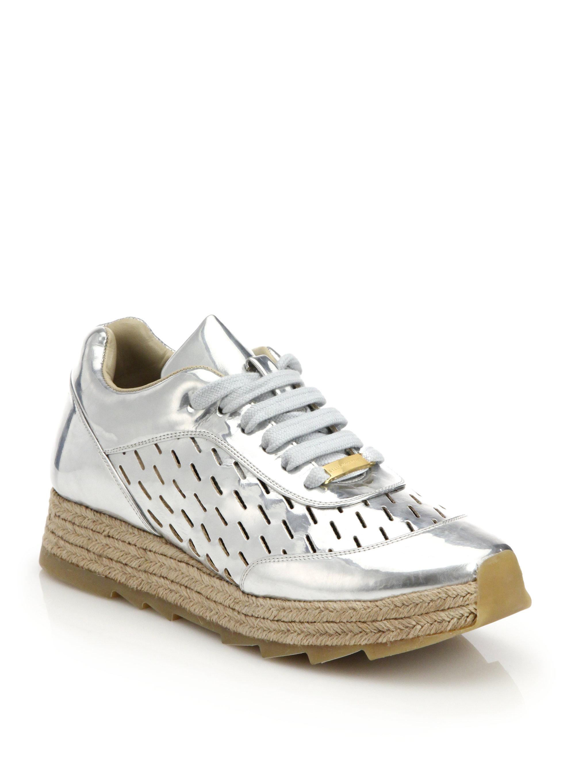 Argent Chaussures De Sport Stella - Stella Mccartney Métallique JQOe2e