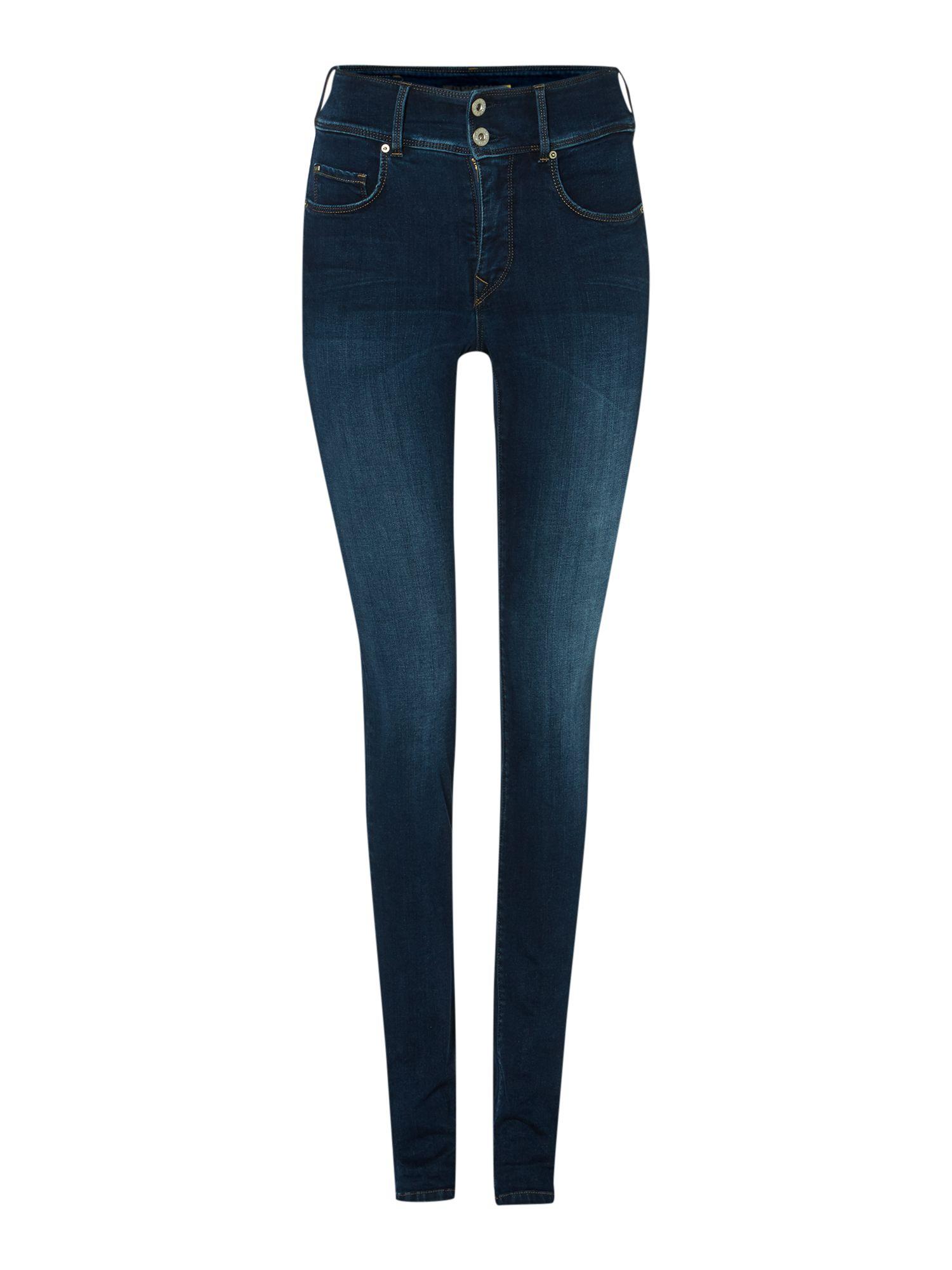 salsa secret push in slim jeans in blue lyst. Black Bedroom Furniture Sets. Home Design Ideas