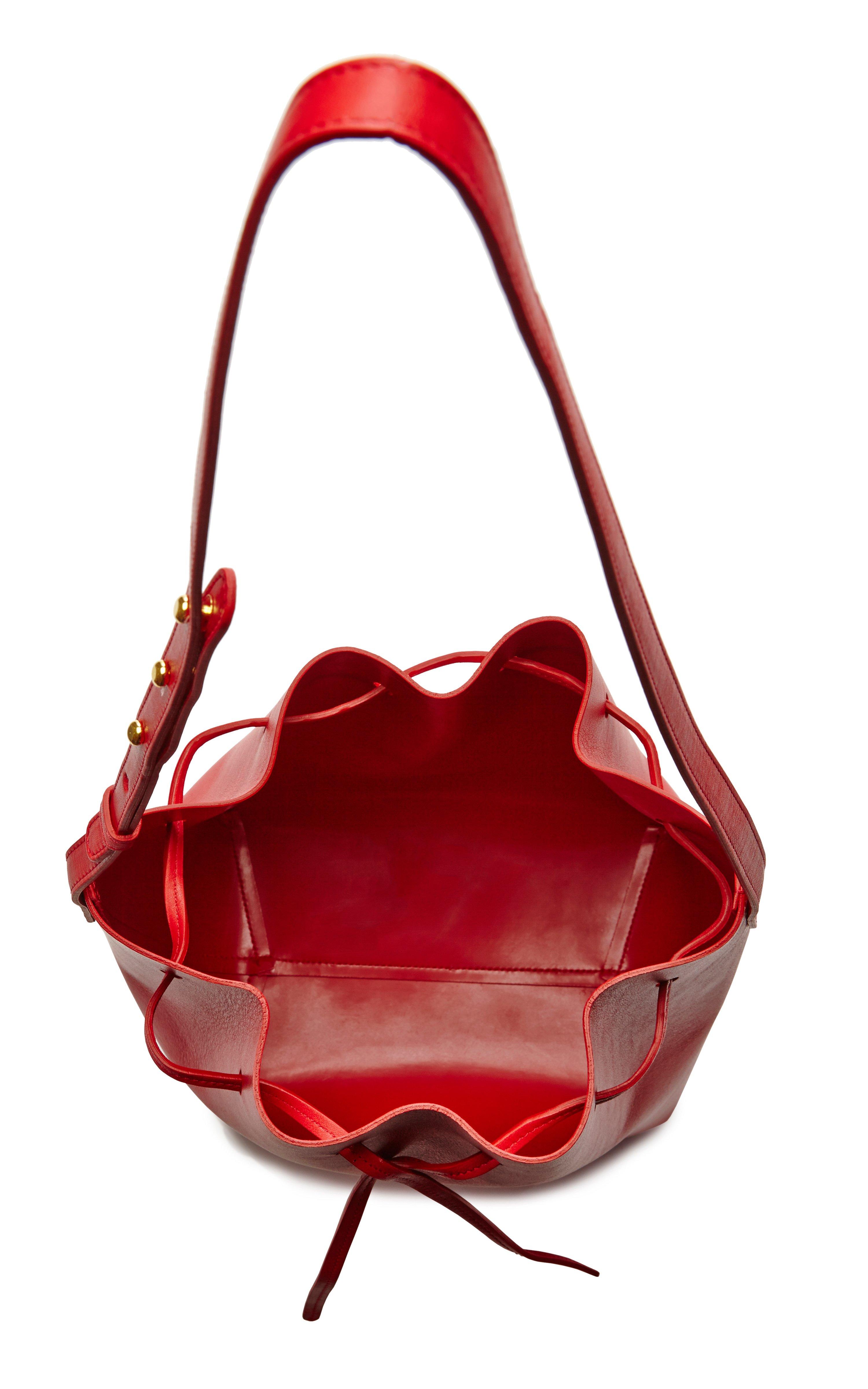 mansur gavriel large bucket bag in flamma in red lyst. Black Bedroom Furniture Sets. Home Design Ideas
