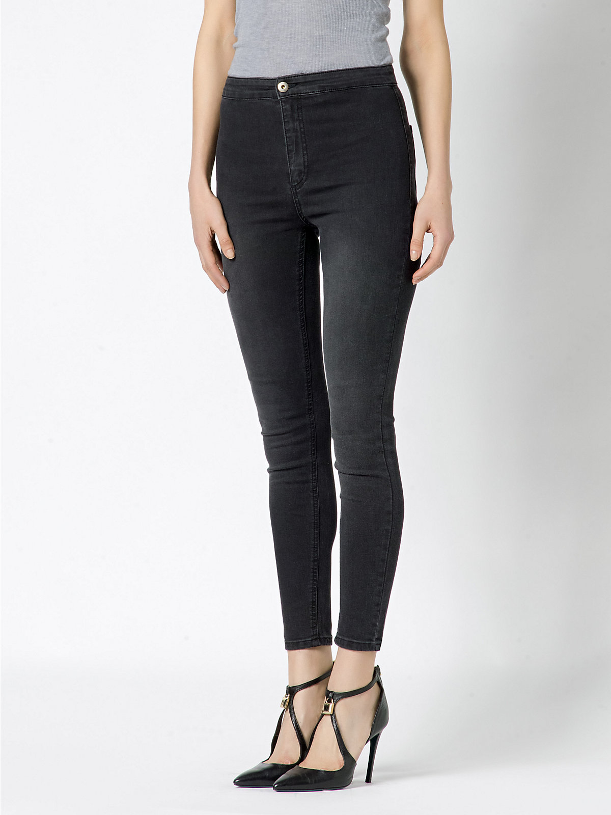 Available In Black High Waisted Skinny Jeans 2 Pockets Great Stretch 31