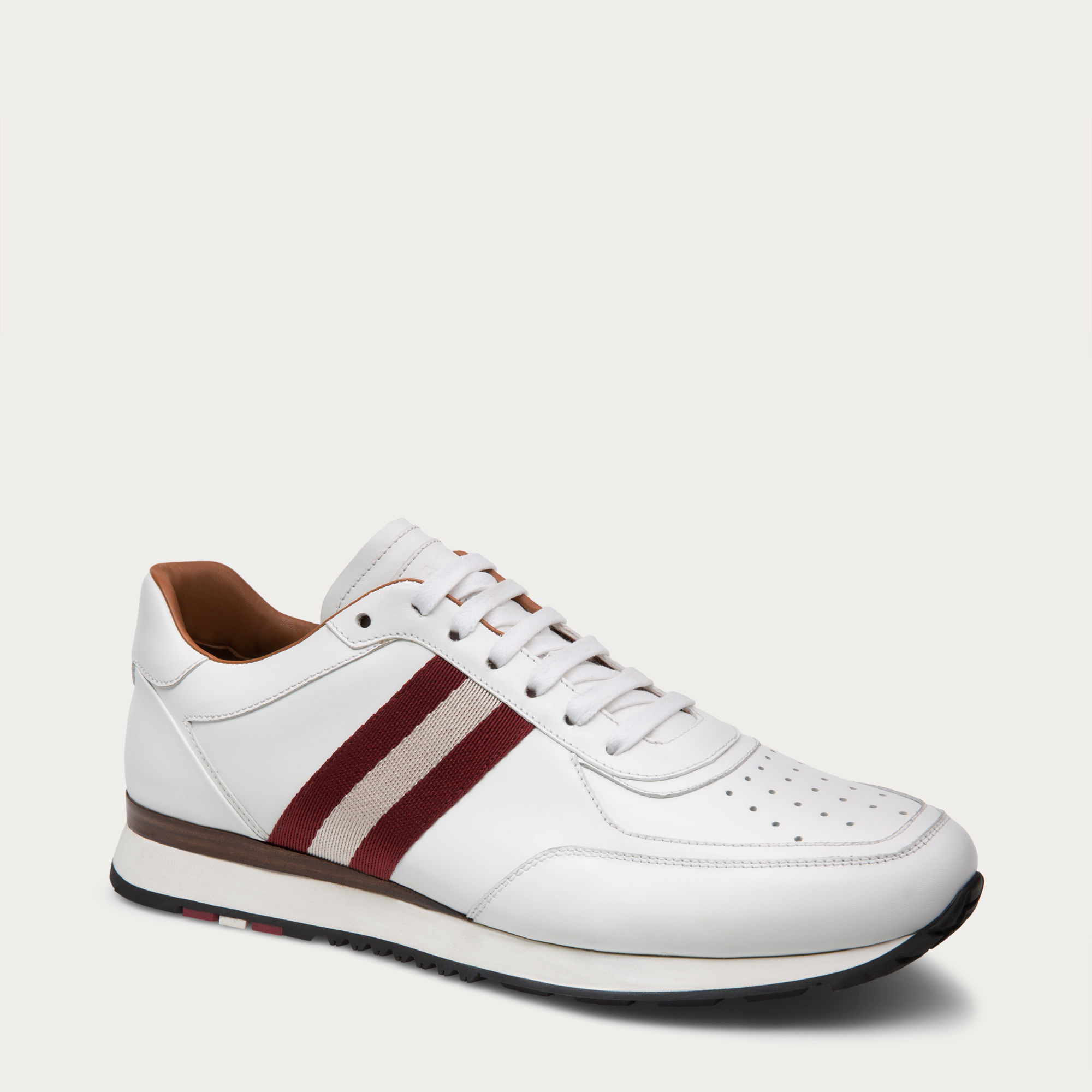 Red And White Bally Shoes