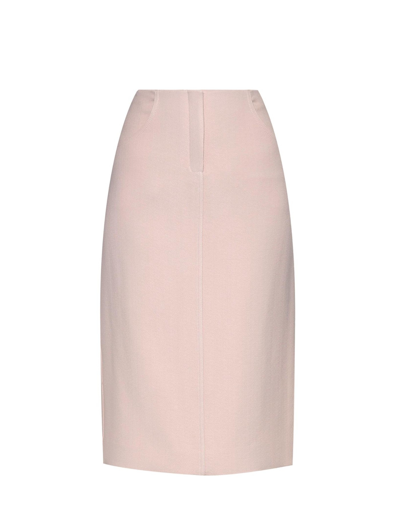 wes gordon marion crepe pencil skirt in pink lyst