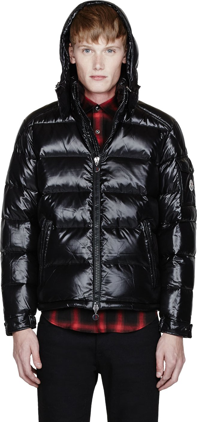 Moncler Black Quilted Down Maya Jacket In Black For Men Lyst