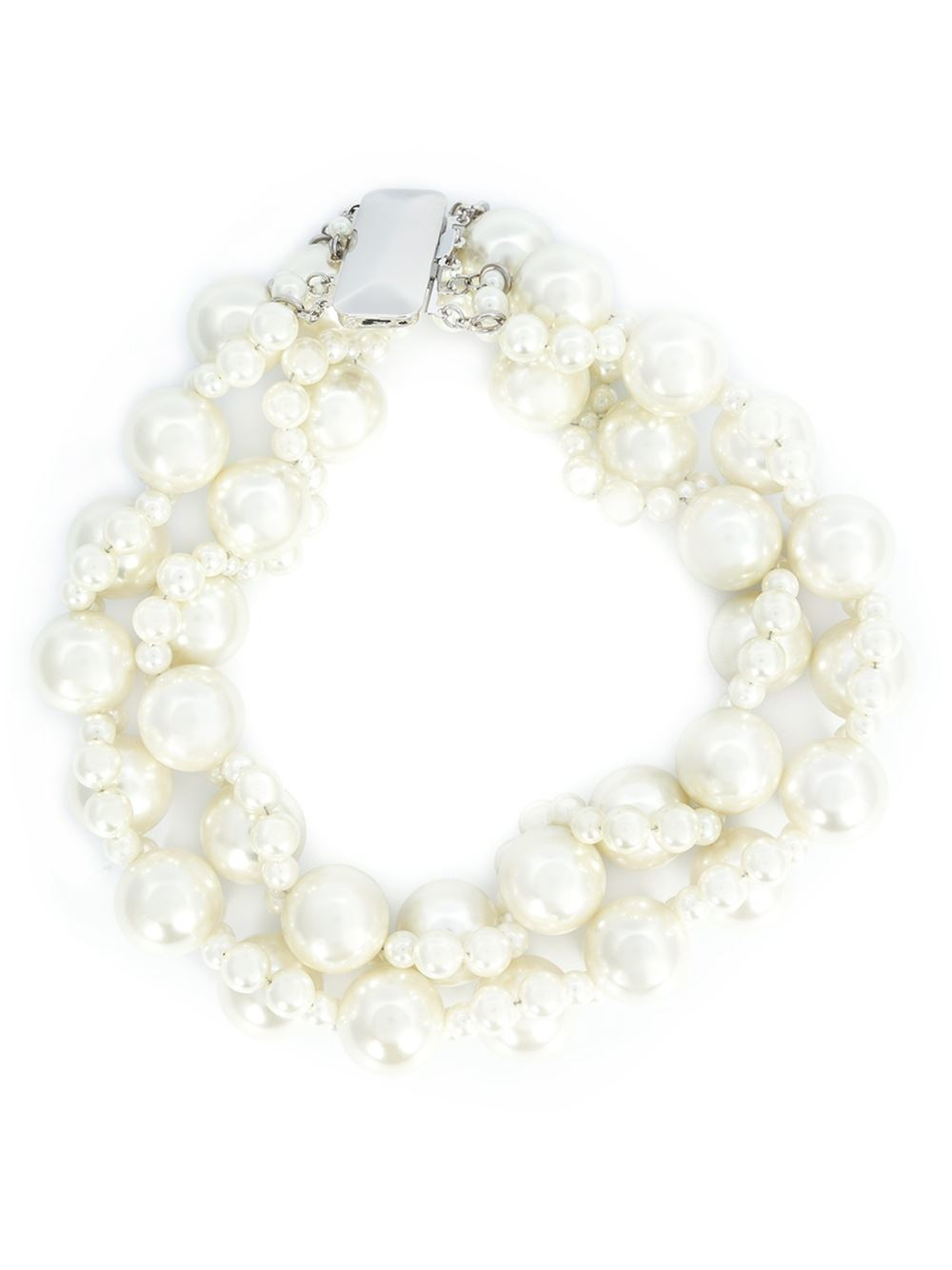 Simone Rocha Double Pearl Necklace In White Lyst