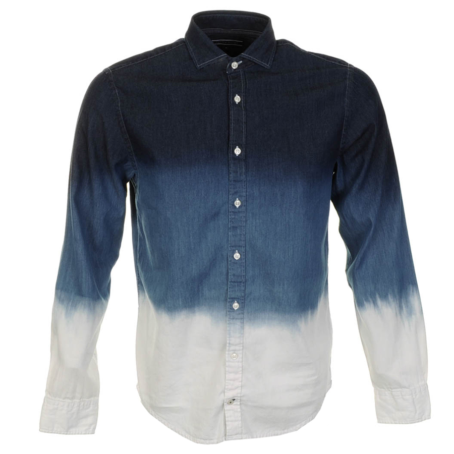 28737a794e07c Lyst - Tommy Hilfiger Dip Dye Denim Shirt Chambray in Blue for Men