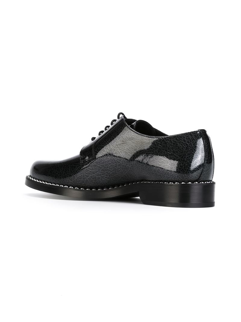 jimmy choo milesasp lace up shoes in black for lyst