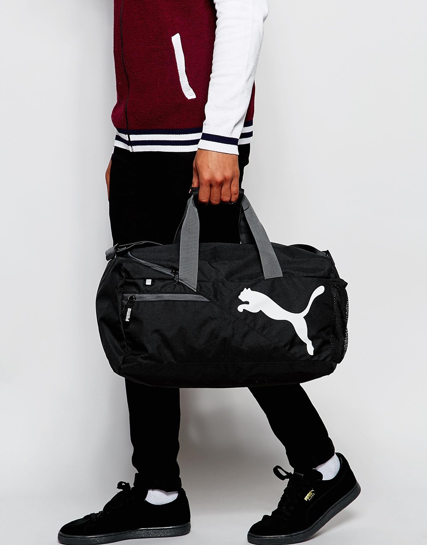 b763011670 Lyst - PUMA Fundamentals Duffel Bag In Black 7349901 in Black for Men