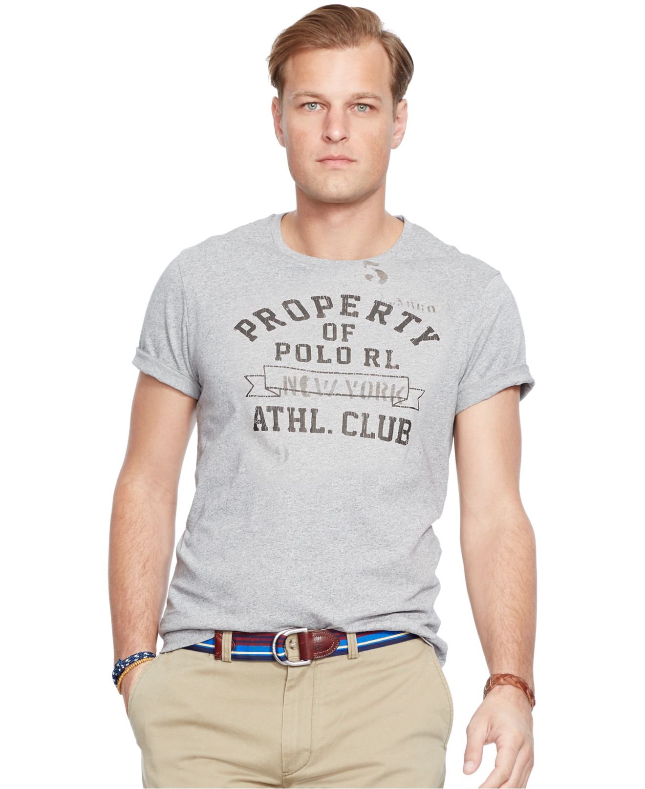 Lyst polo ralph lauren big and tall athletic club t for Big and tall athletic shirts