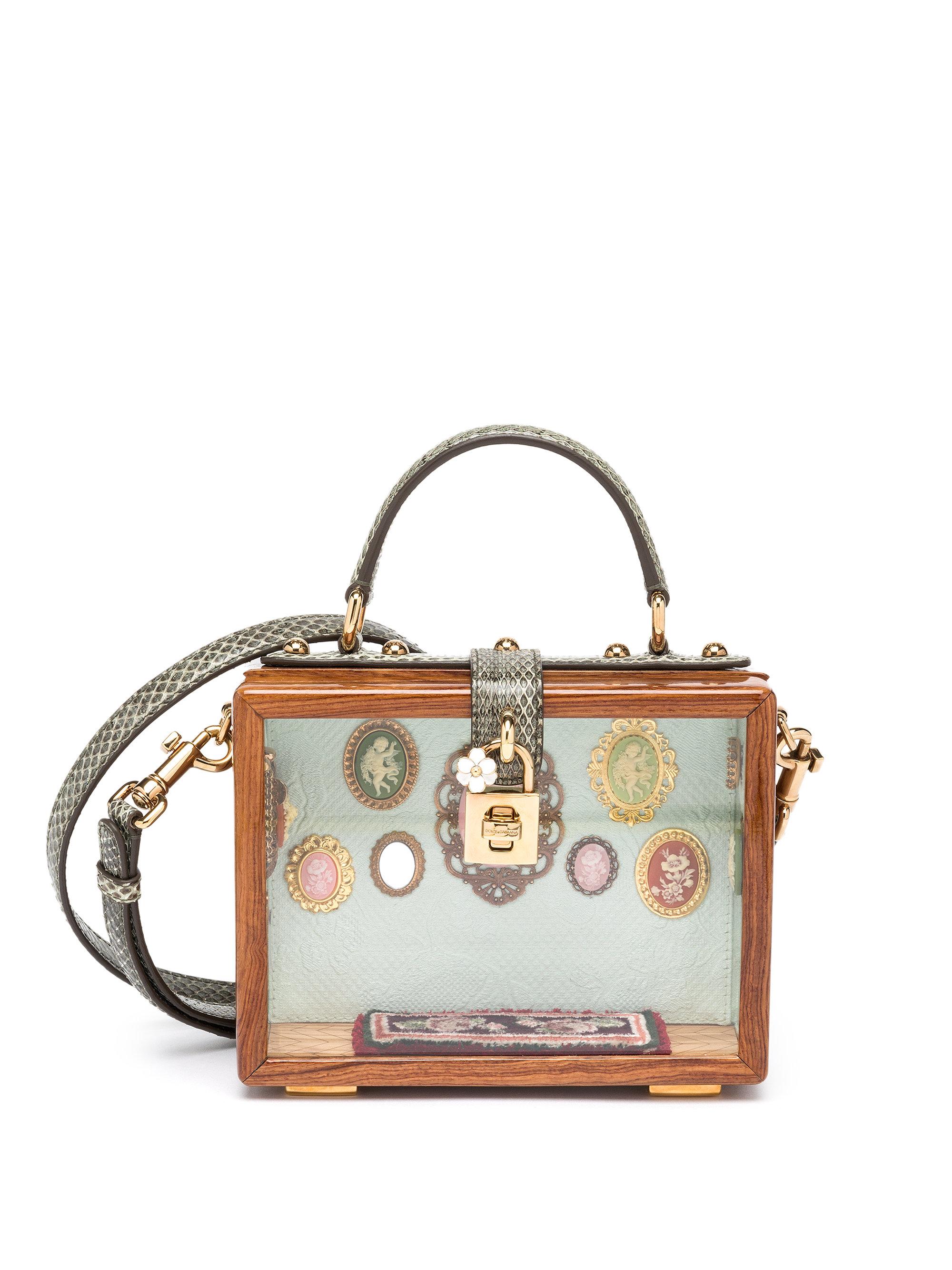 Dolce & Gabbana Embellished Wood Shoulder Bag C9VIi