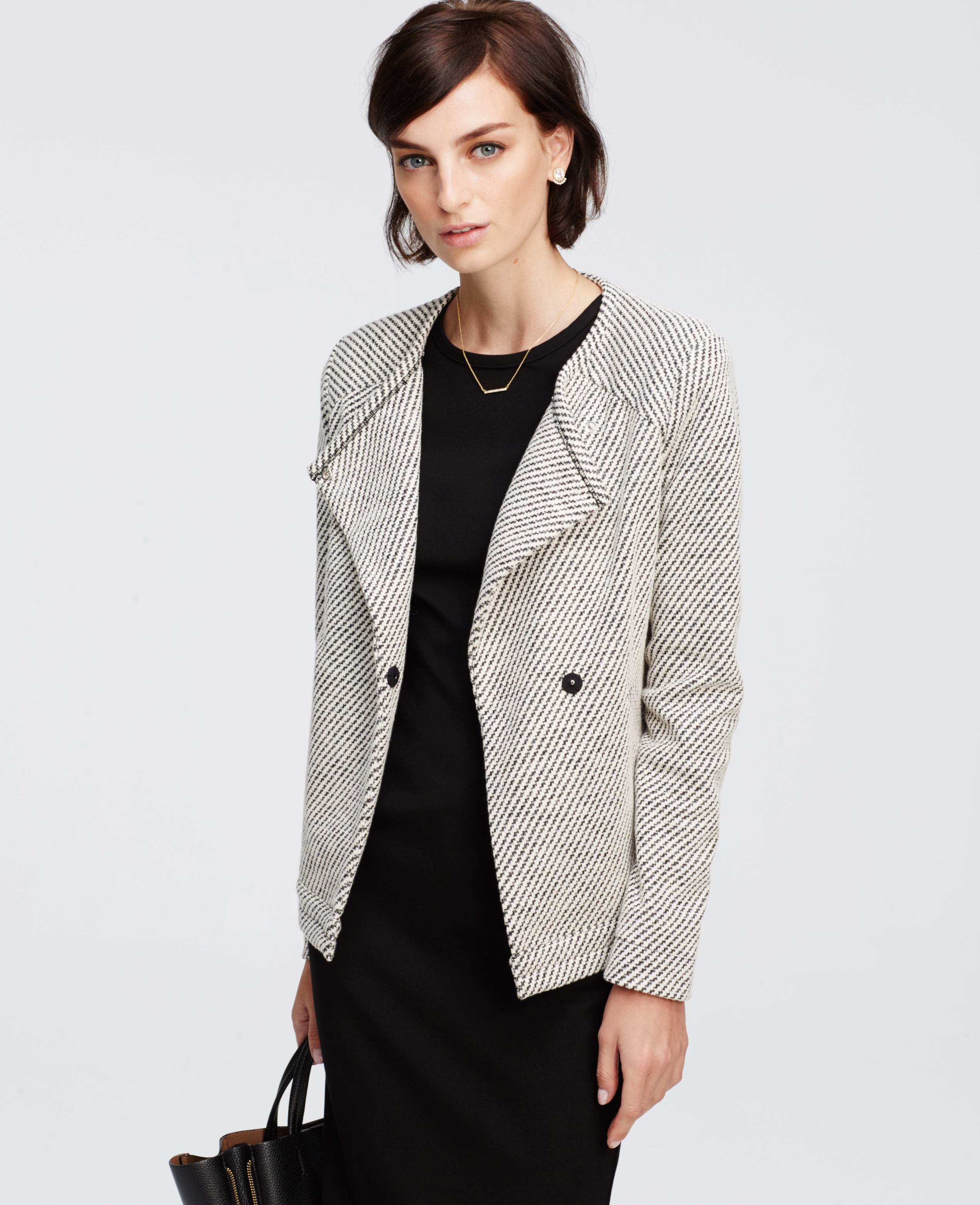 Black floral print textured jacket
