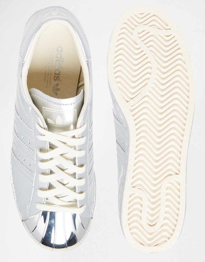 best service 8ad3a 18196 where to buy adidas superstar silver metallic trainers 23038 ...