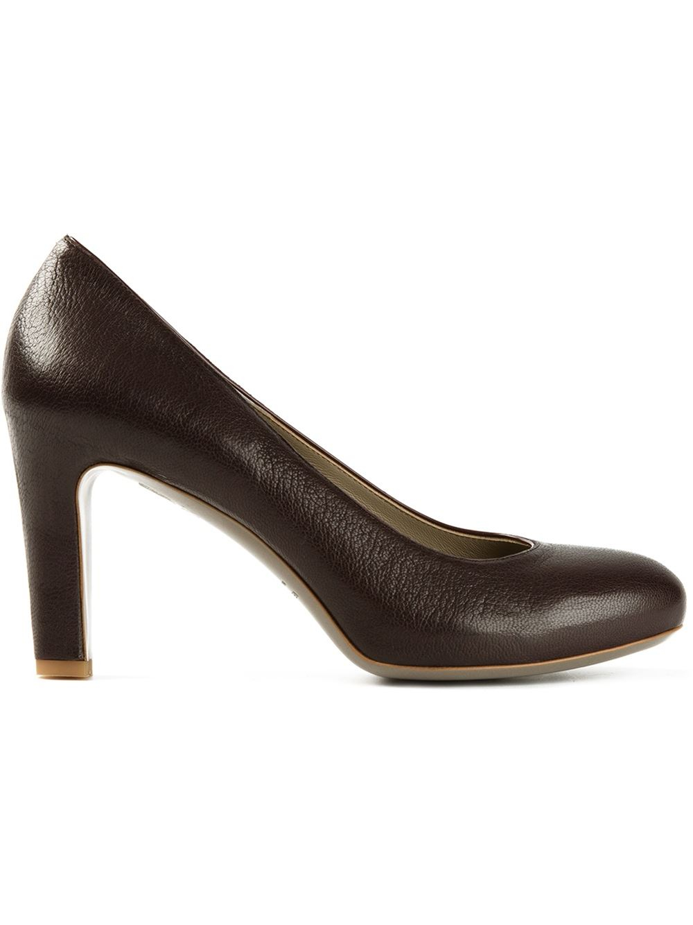 Brown Chunky Heel Shoes