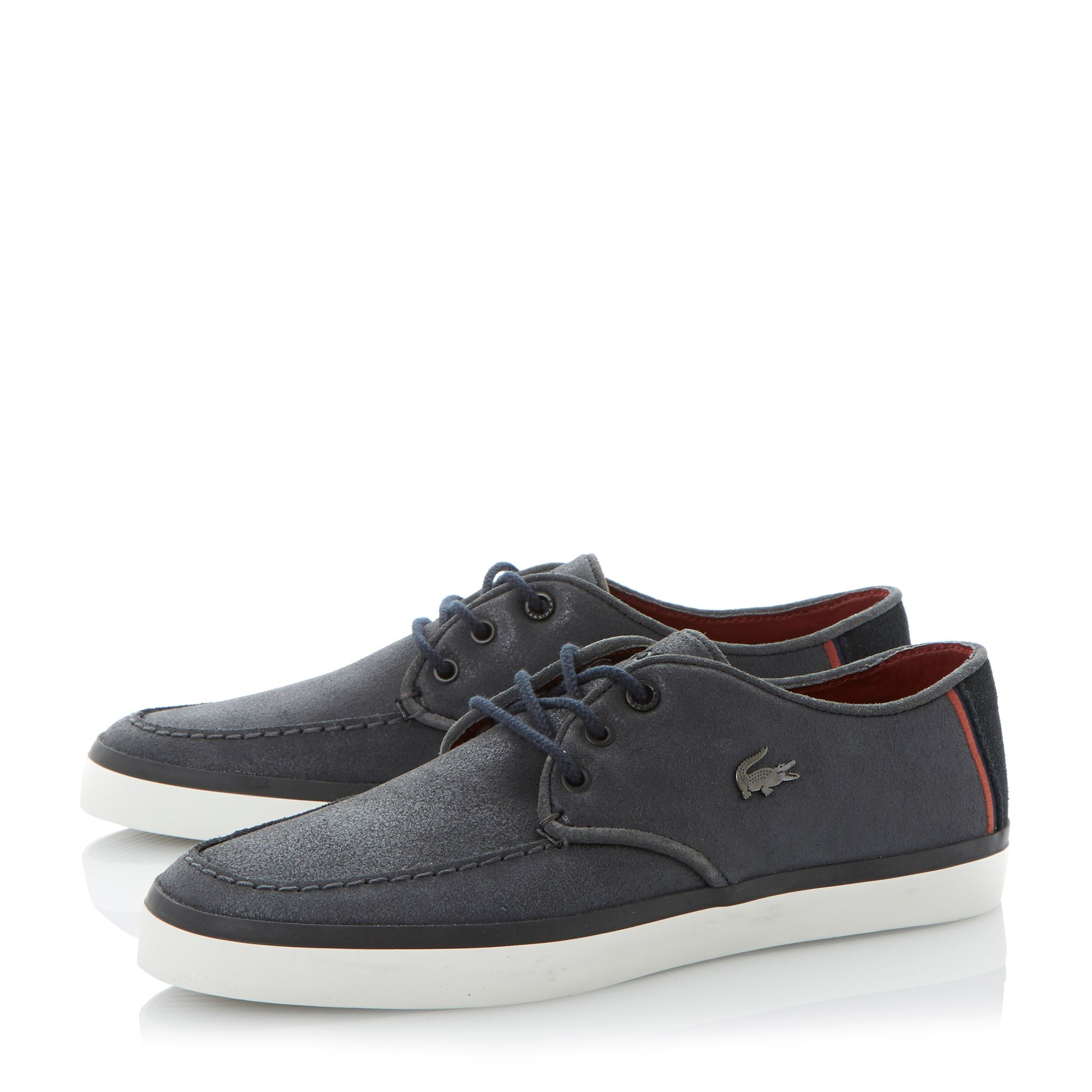 lacoste sevrin eyelet apron casual lace up shoes in blue for men navy lyst. Black Bedroom Furniture Sets. Home Design Ideas