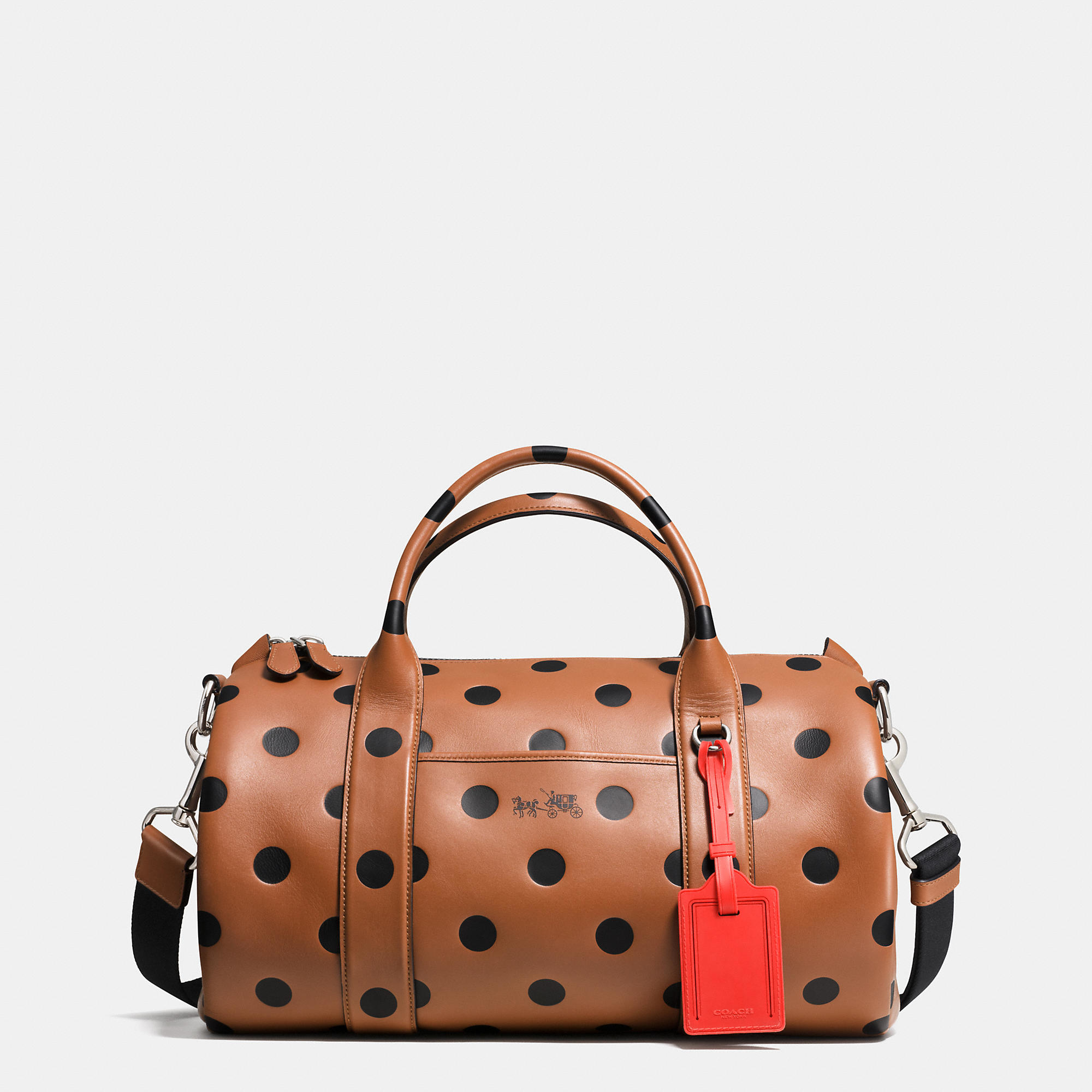 ... promo code for coach designer handbag lyst coach small barrel bag in saddle  dot leather in a8f9821295cc4