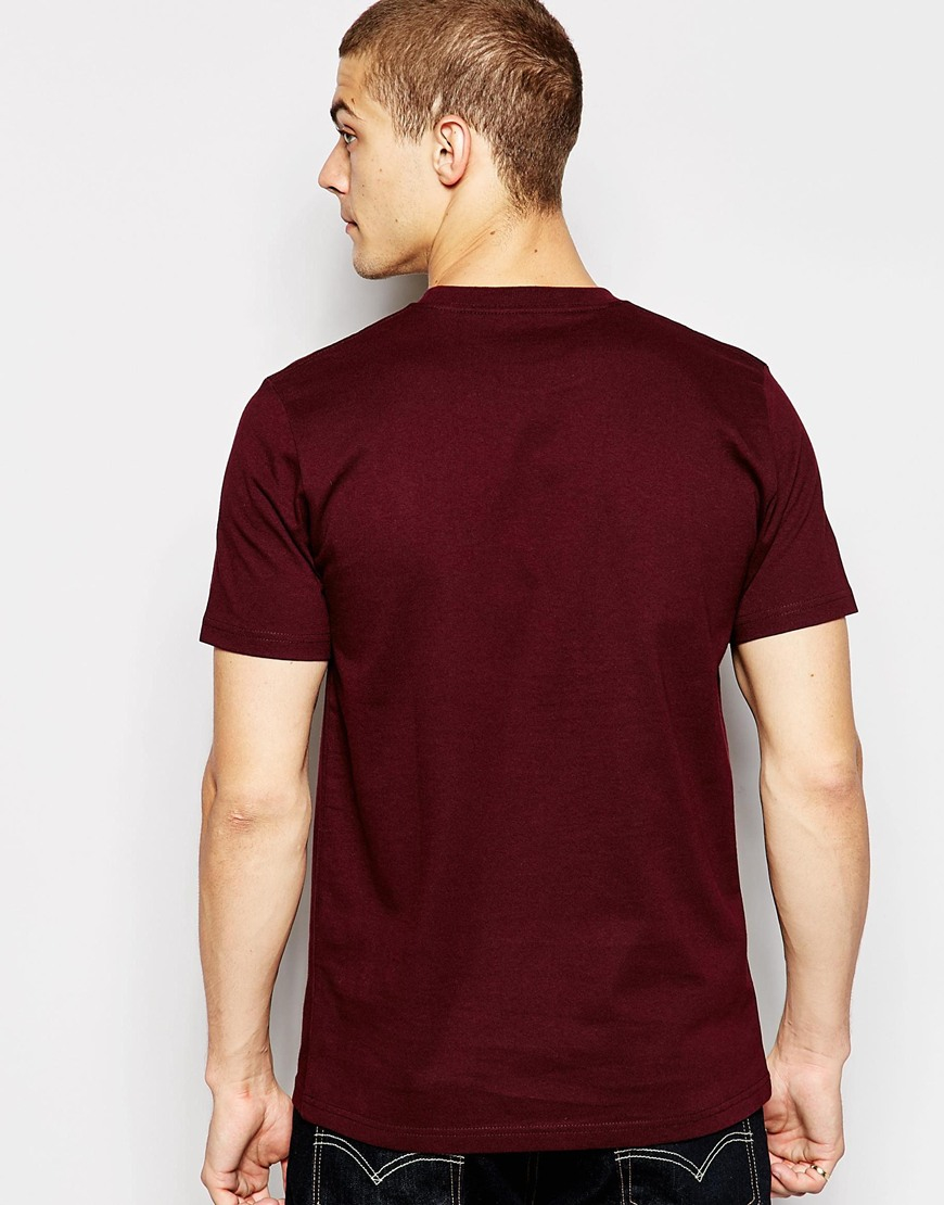 Lyst carhartt wip college t shirt in purple for men for Carhartt burgundy t shirt