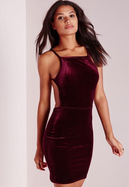 Red velvet dress petite