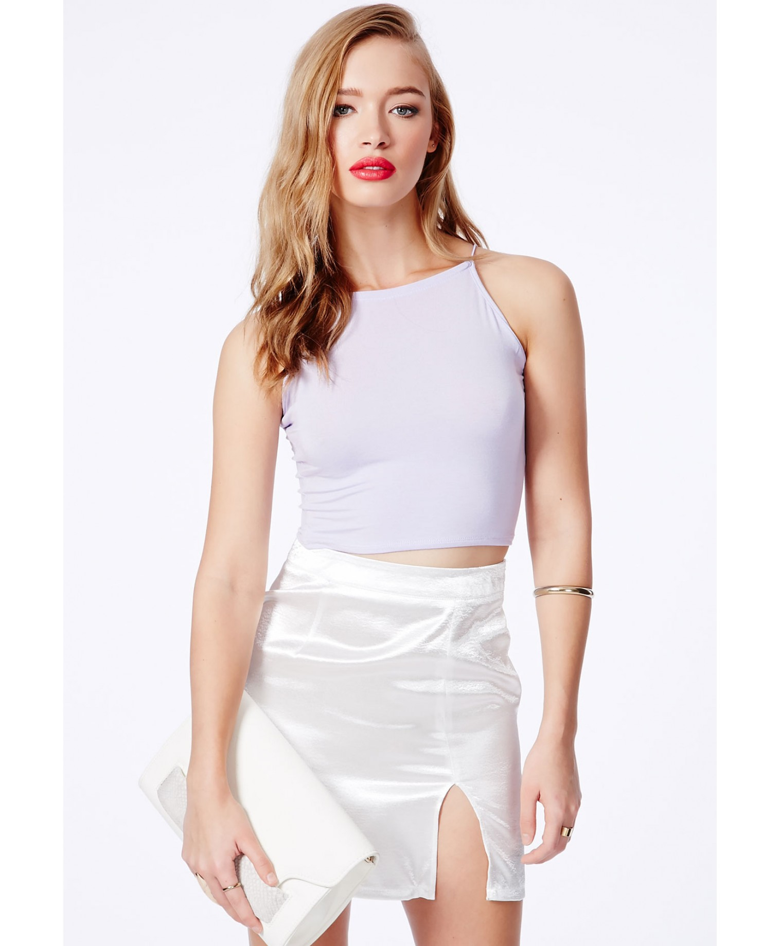 Missguided Mintare Crop Top With Spaghetti Straps