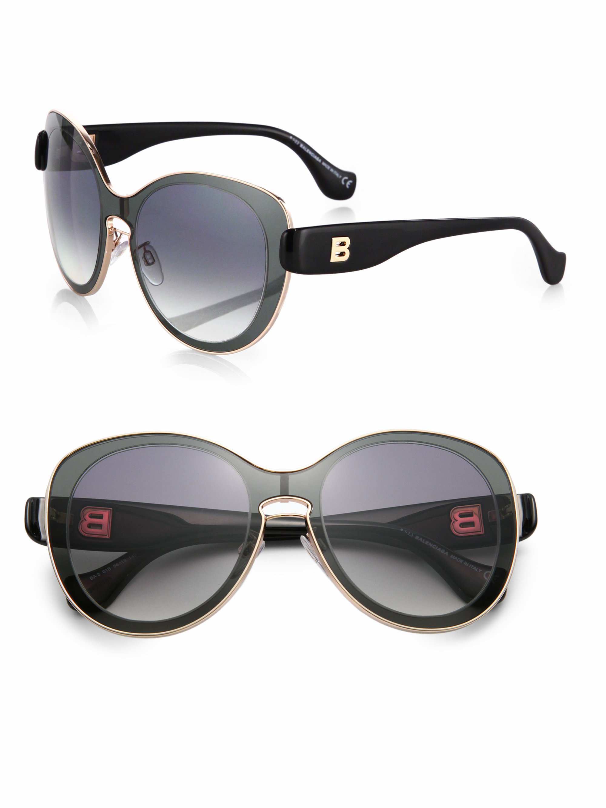 balenciaga high tech sunglasses in black lyst