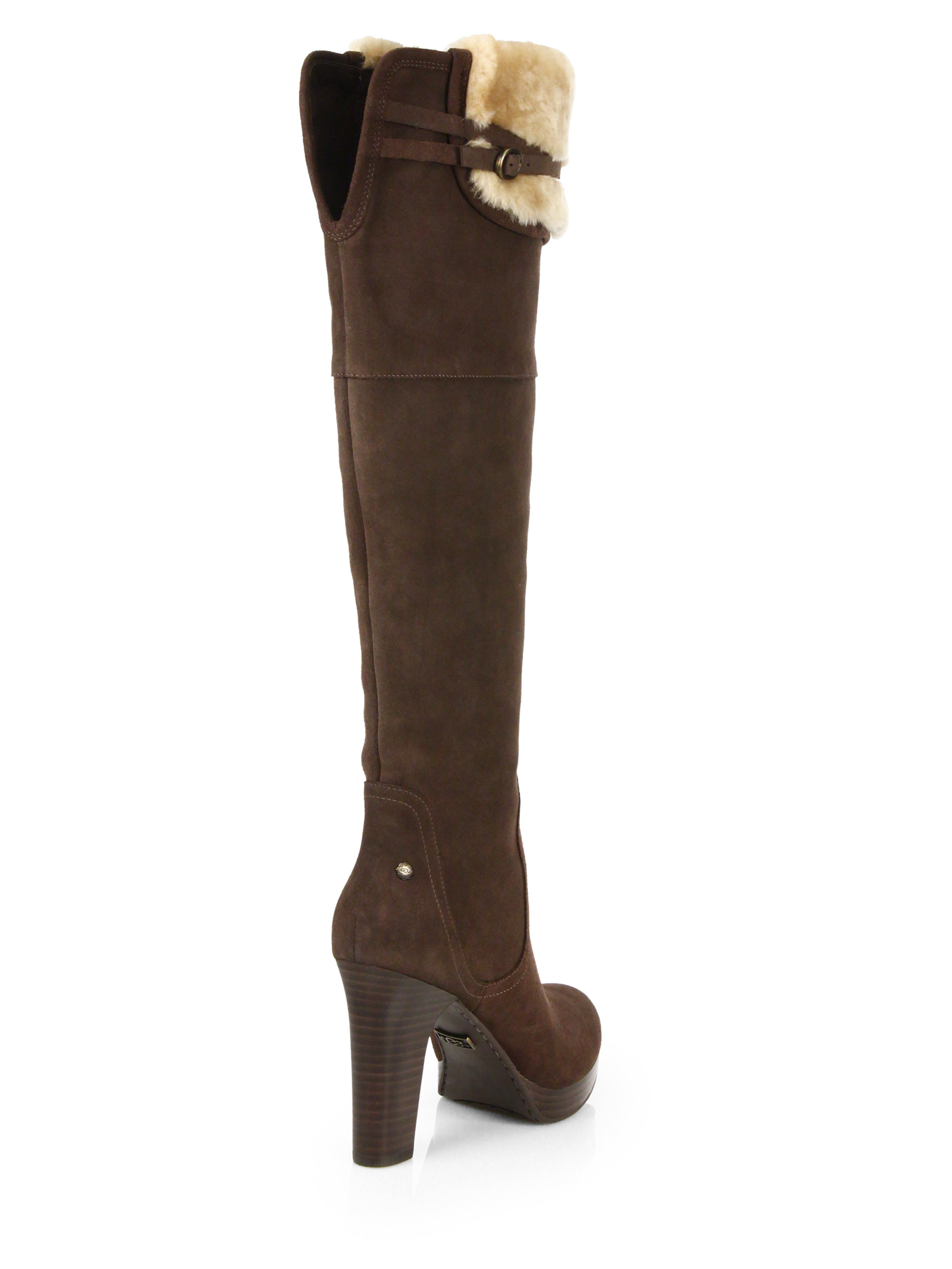 0f2df291114 Lyst - UGG Ophira Suede Over-The-Knee Boots in Brown