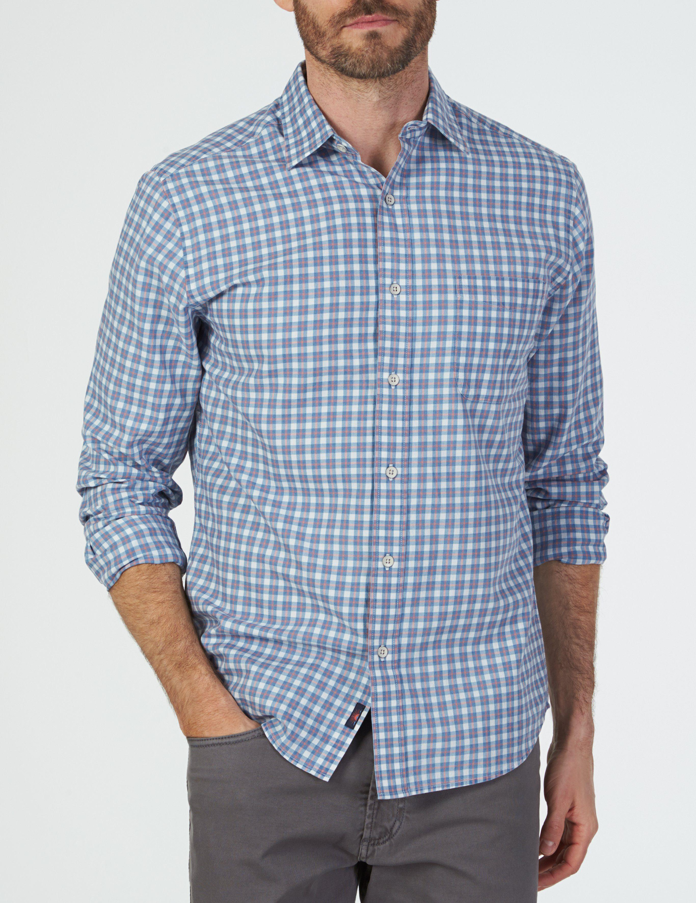63045f6f898 Faherty Brand Everyday Shirt in Blue for Men - Lyst