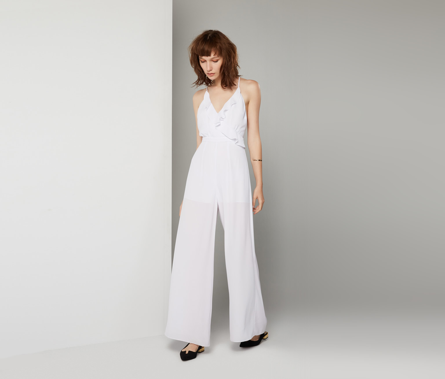 aaf9332d0a Fame   Partners Raenah Jumpsuit in White - Lyst