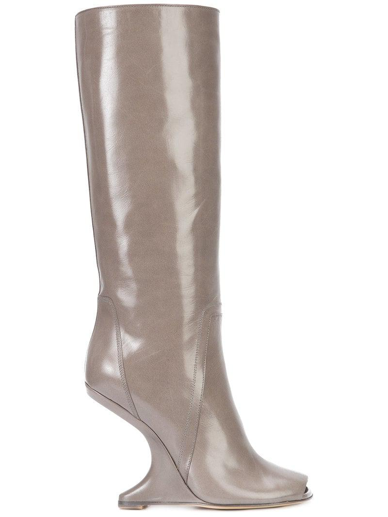896aaa1f9381 Lyst - Rick Owens - Cantilevered Boots - Women - Calf Leather goat ...