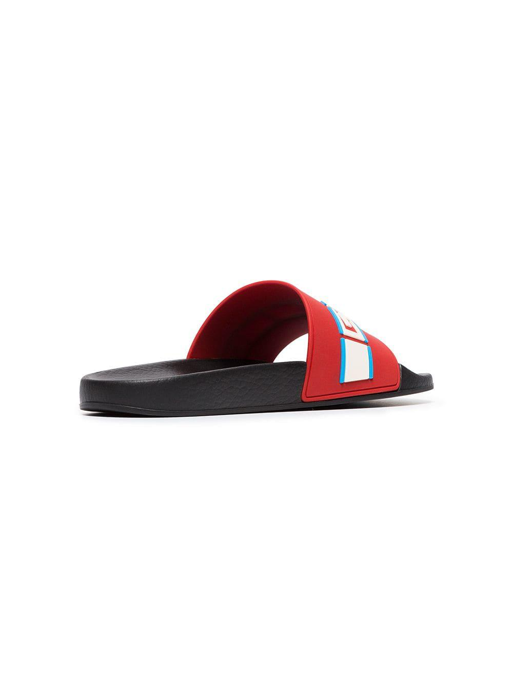 d0a7263033dd03 Gucci - Blue Poppy Azure Red Pursuit Sandals - Lyst. View fullscreen