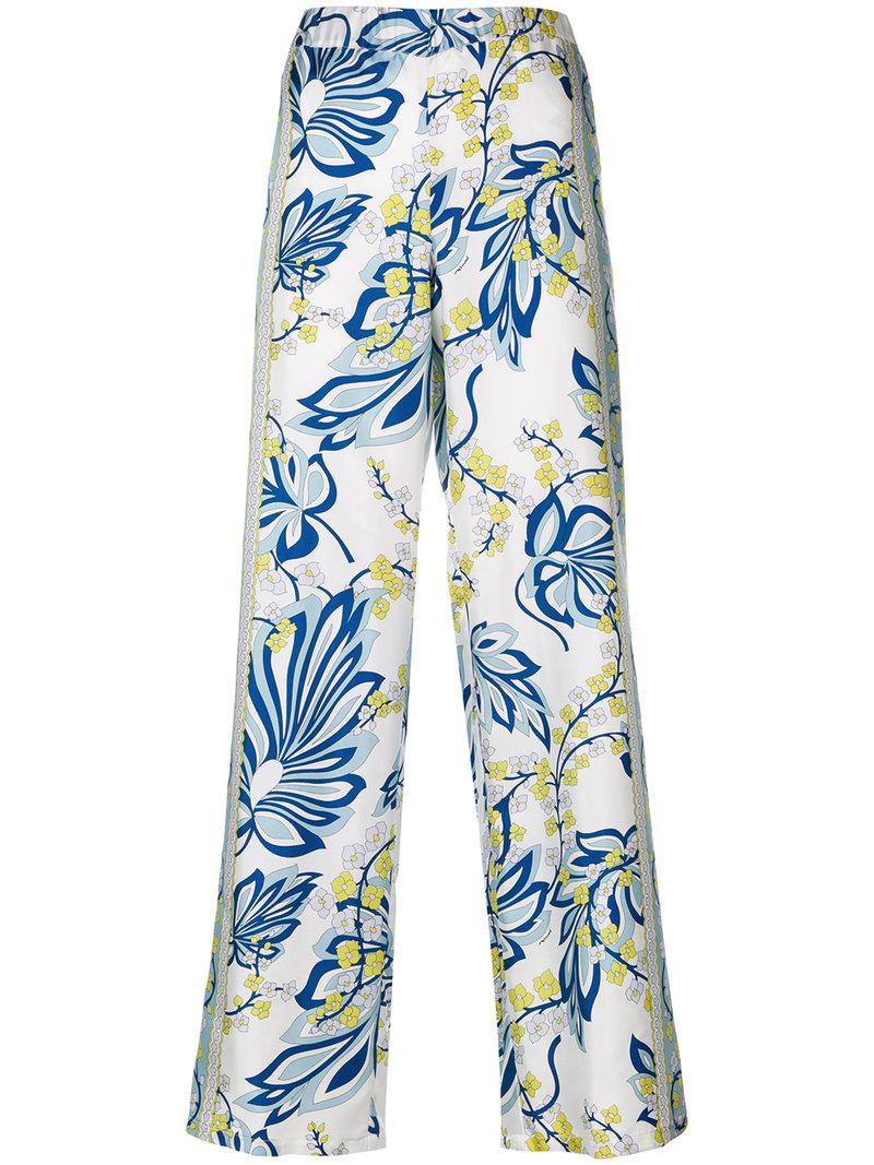 floral printed trousers - White P.A.R.O.S.H.