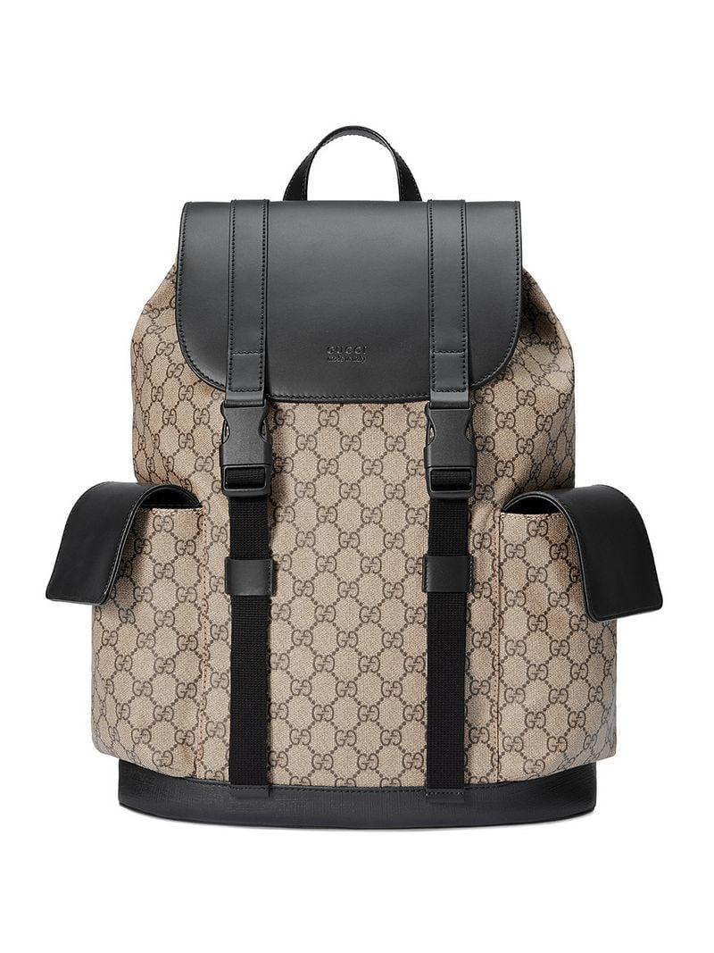 9054a165f98129 Gucci Soft GG Supreme Backpack in Brown for Men - Lyst